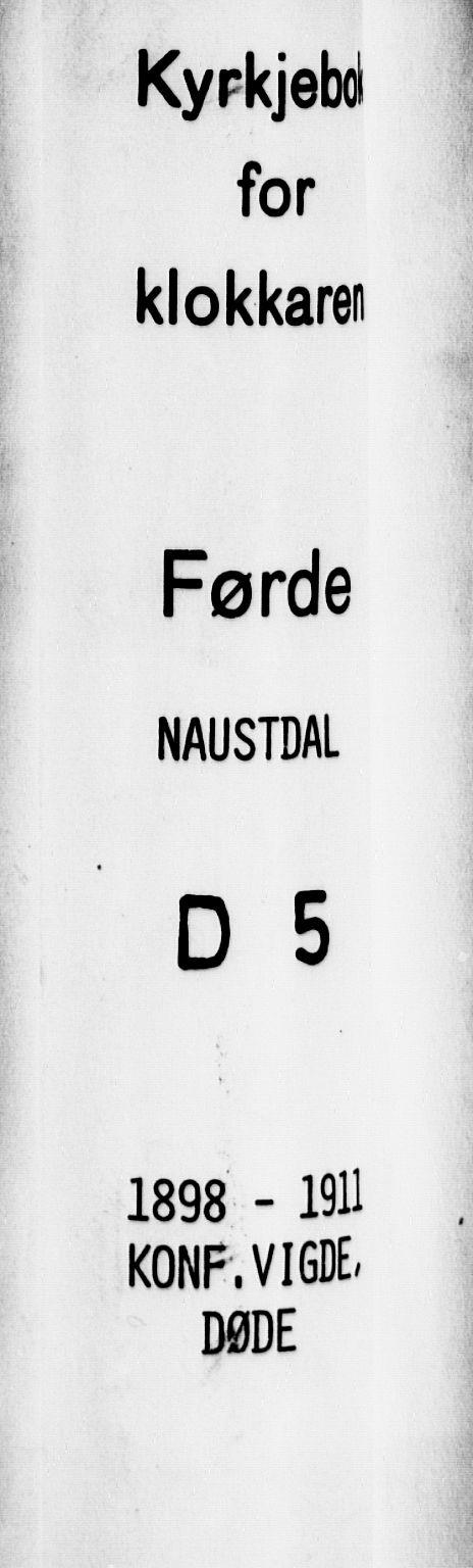 SAB, Førde Sokneprestembete, H/Hab: Klokkerbok nr. D 5, 1898-1911