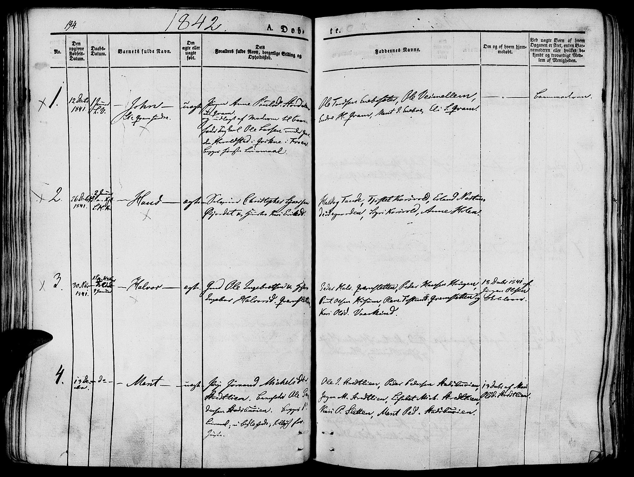 SAH, Lesja prestekontor, Ministerialbok nr. 5, 1830-1842, s. 194