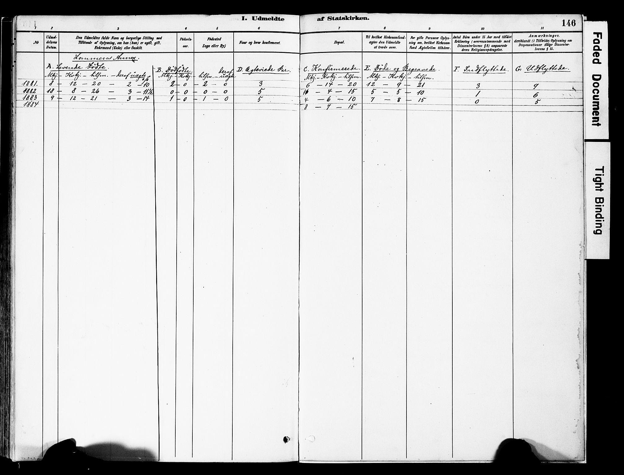 SAH, Vestre Slidre prestekontor, Ministerialbok nr. 5, 1881-1912, s. 146