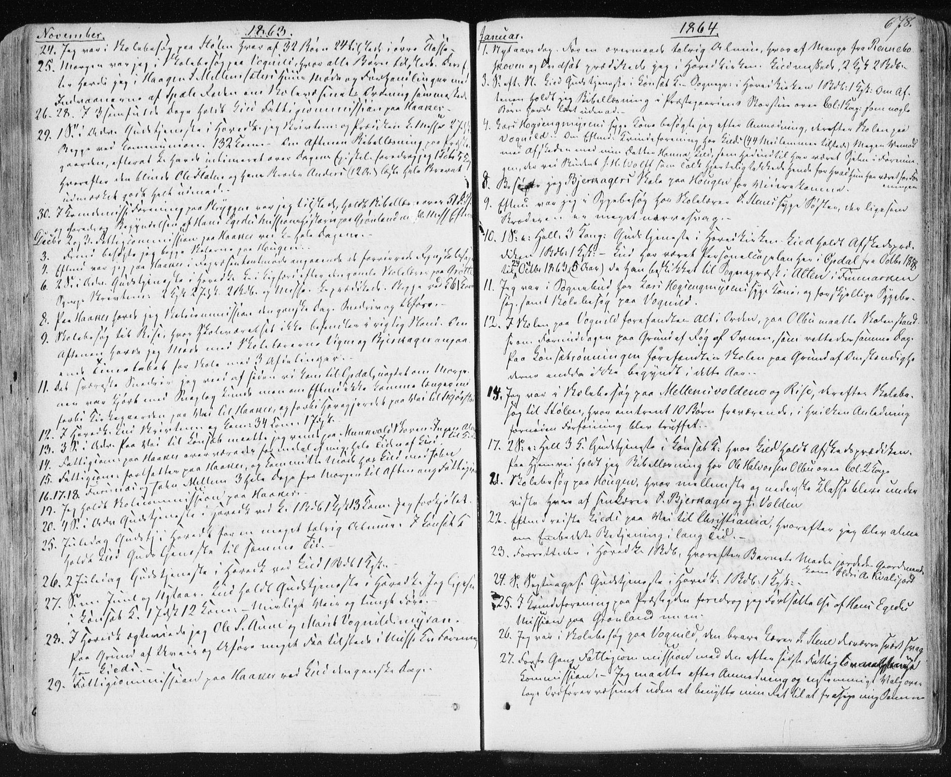 SAT, Ministerialprotokoller, klokkerbøker og fødselsregistre - Sør-Trøndelag, 678/L0899: Ministerialbok nr. 678A08, 1848-1872, s. 678