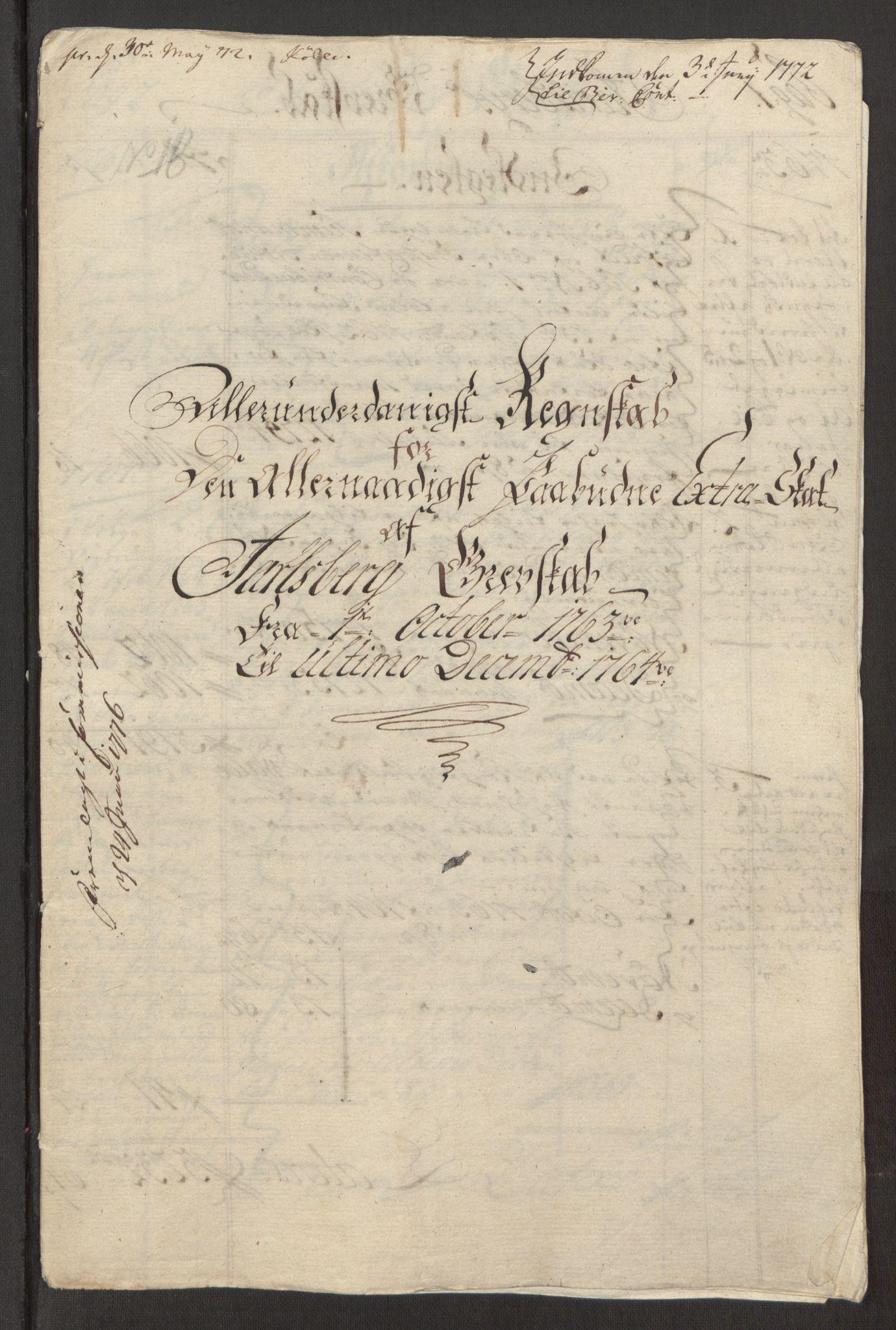 RA, Rentekammeret inntil 1814, Reviderte regnskaper, Fogderegnskap, R32/L1960: Ekstraskatten Jarlsberg grevskap, 1762-1772, s. 56