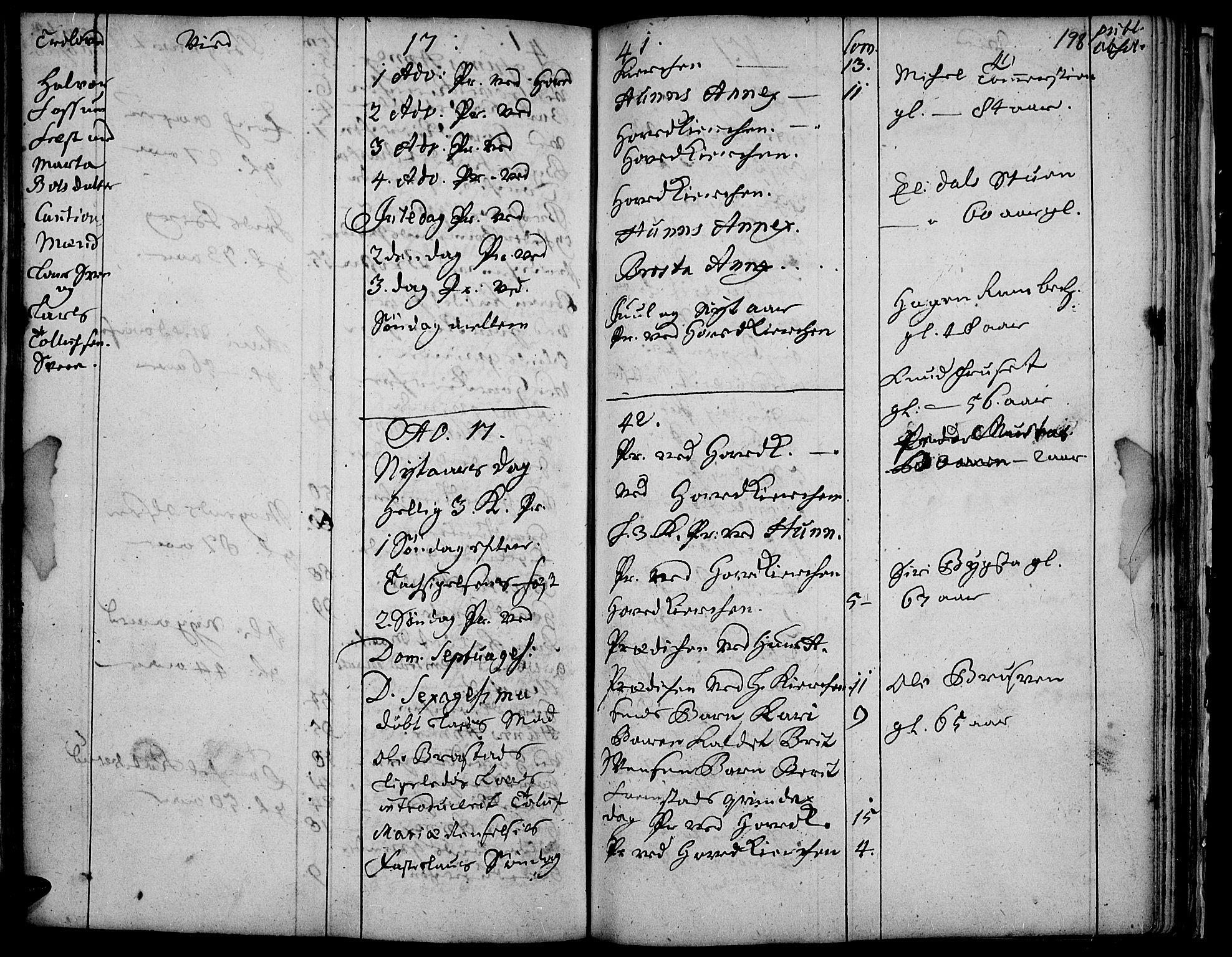 SAH, Vardal prestekontor, H/Ha/Haa/L0001: Ministerialbok nr. 1, 1706-1748, s. 198