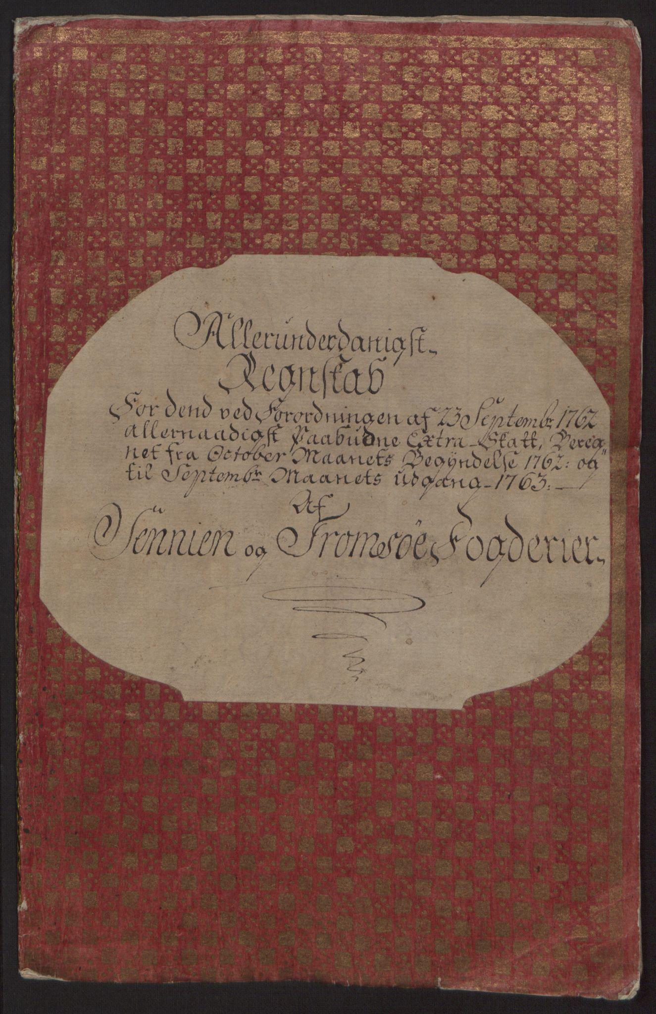 RA, Rentekammeret inntil 1814, Reviderte regnskaper, Fogderegnskap, R68/L4845: Ekstraskatten Senja og Troms, 1762-1765, s. 5