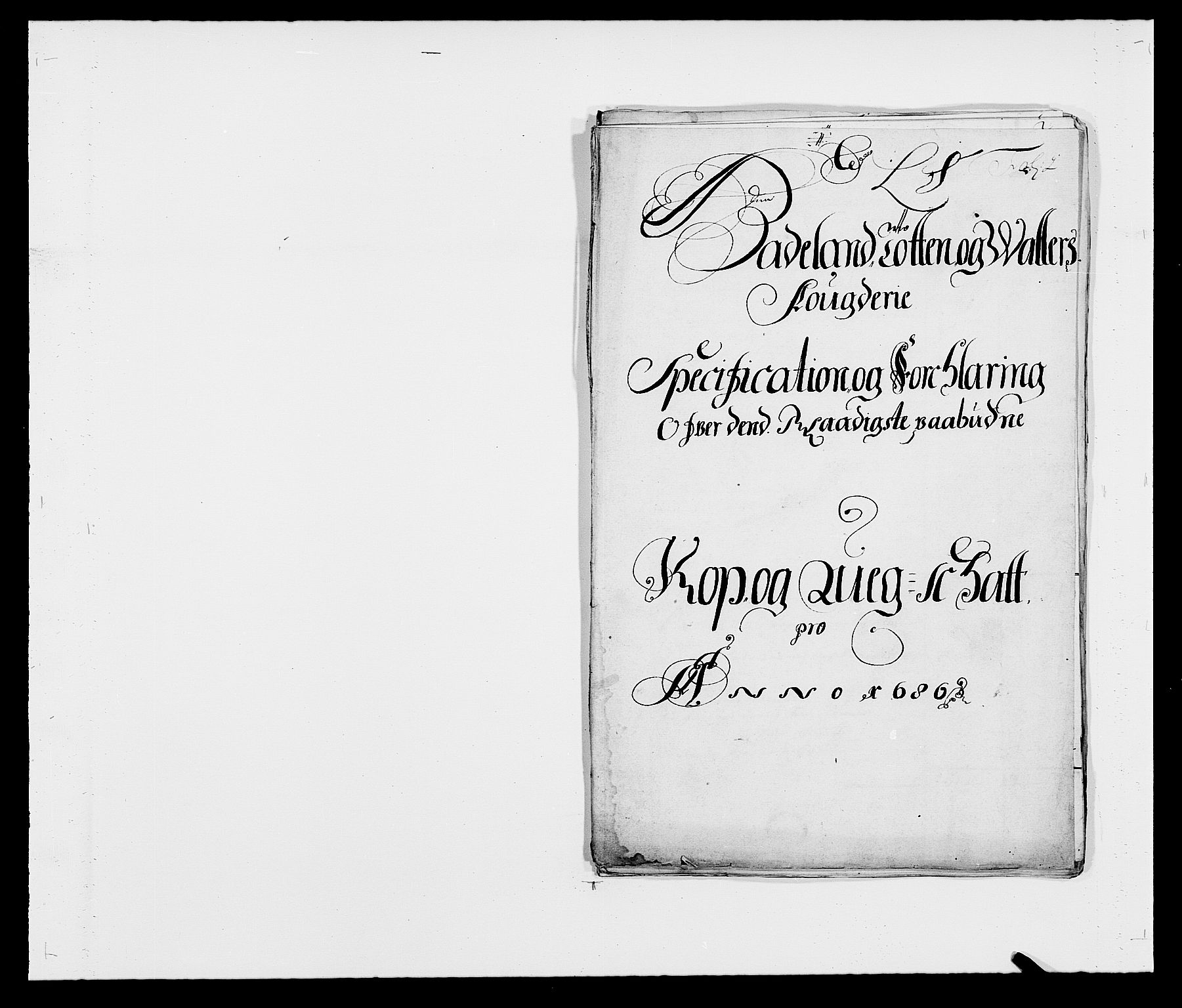 RA, Rentekammeret inntil 1814, Reviderte regnskaper, Fogderegnskap, R18/L1285: Fogderegnskap Hadeland, Toten og Valdres, 1686, s. 218