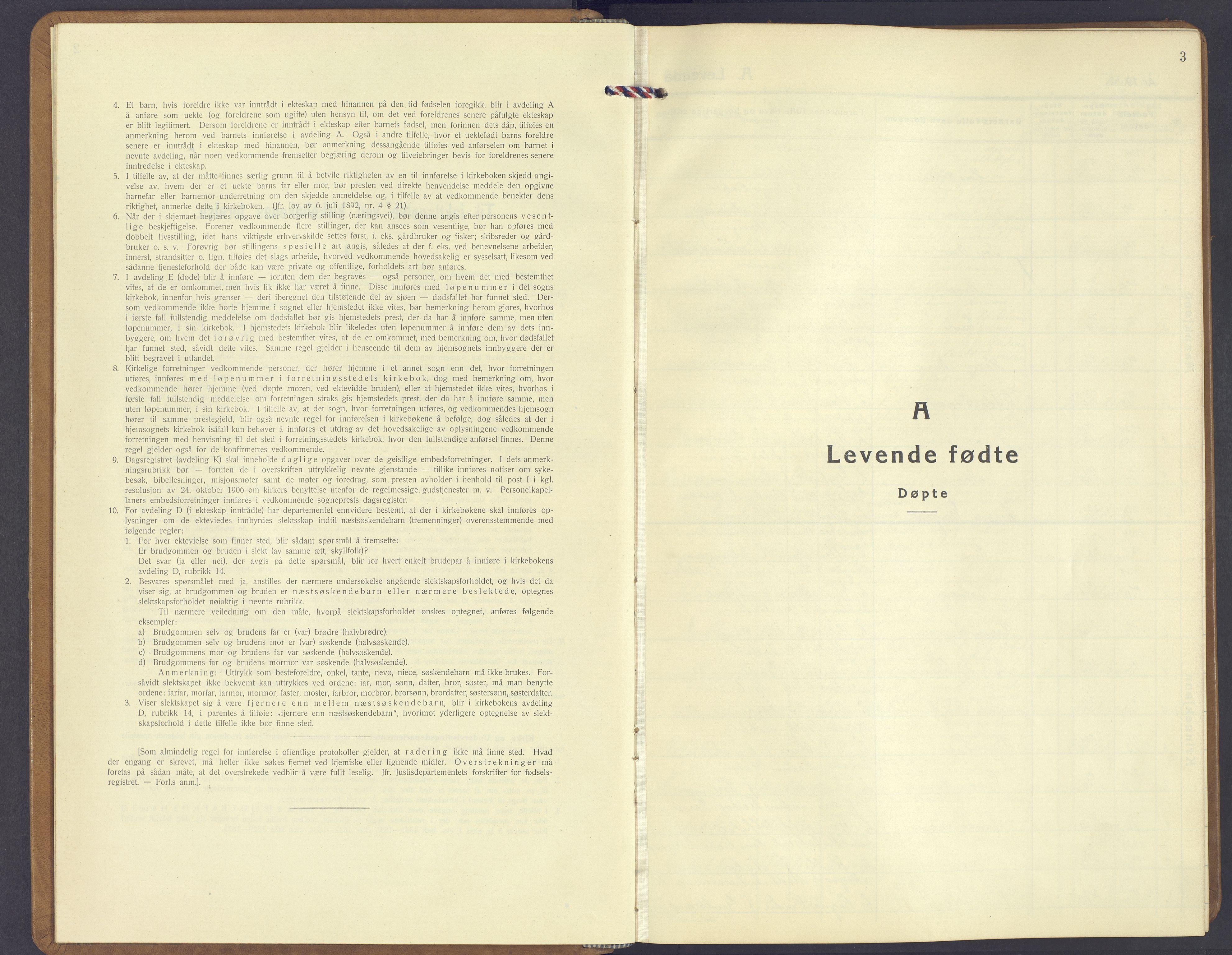 SAH, Jevnaker prestekontor, Klokkerbok nr. 6, 1930-1945, s. 3