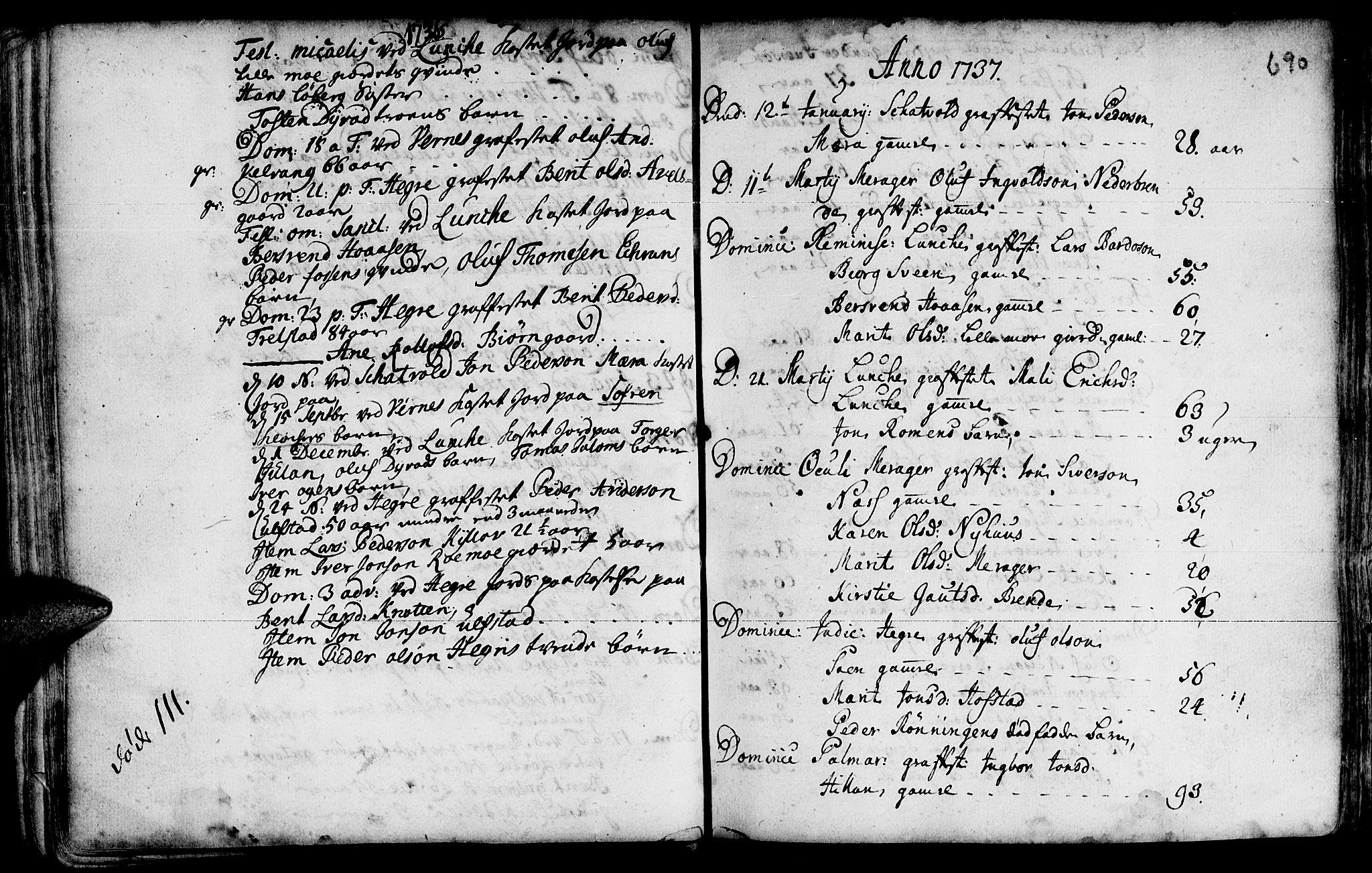 SAT, Ministerialprotokoller, klokkerbøker og fødselsregistre - Nord-Trøndelag, 709/L0055: Ministerialbok nr. 709A03, 1730-1739, s. 689-690