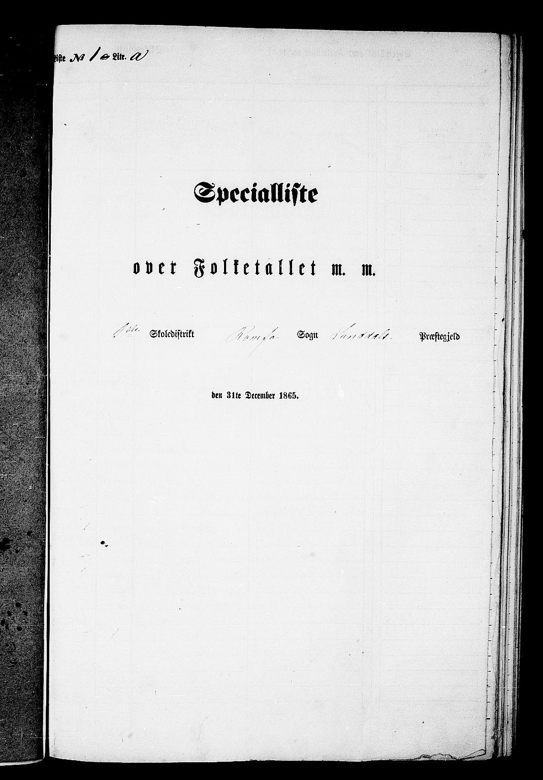RA, Folketelling 1865 for 1563P Sunndal prestegjeld, 1865, s. 5