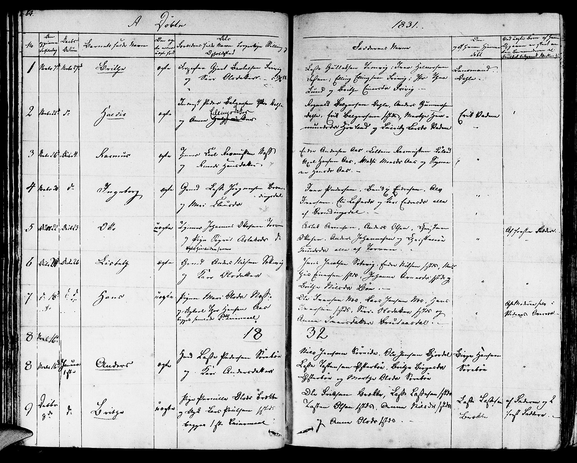 SAB, Lavik sokneprestembete, Ministerialbok nr. A 2I, 1821-1842, s. 84