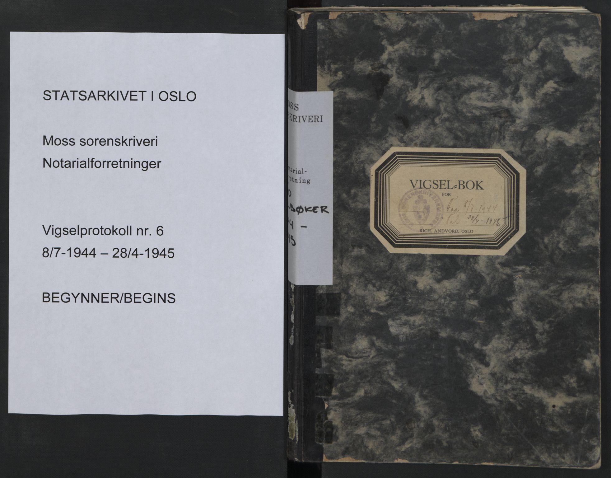SAO, Moss sorenskriveri, 1944-1945, s. upaginert