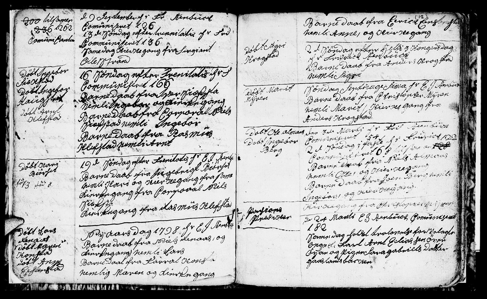 SAT, Ministerialprotokoller, klokkerbøker og fødselsregistre - Sør-Trøndelag, 694/L1129: Klokkerbok nr. 694C01, 1793-1815, s. 12