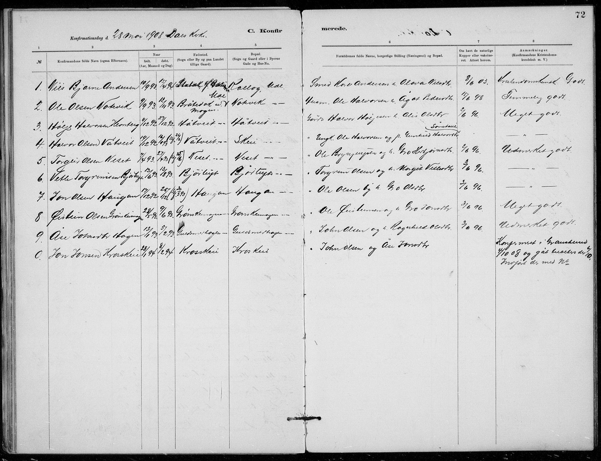 SAKO, Tinn kirkebøker, F/Fb/L0002: Ministerialbok nr. II 2, 1878-1917, s. 72