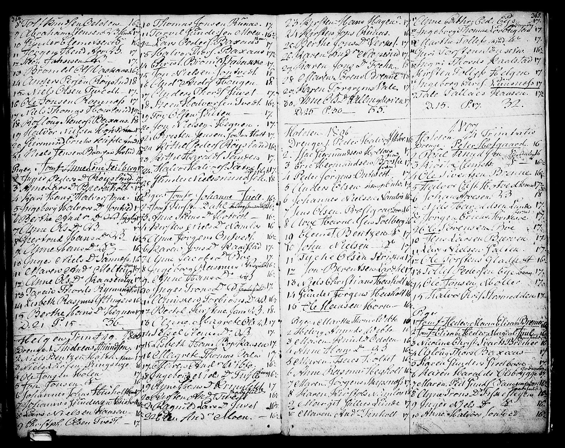 SAKO, Holla kirkebøker, F/Fa/L0002: Ministerialbok nr. 2, 1779-1814, s. 364-365
