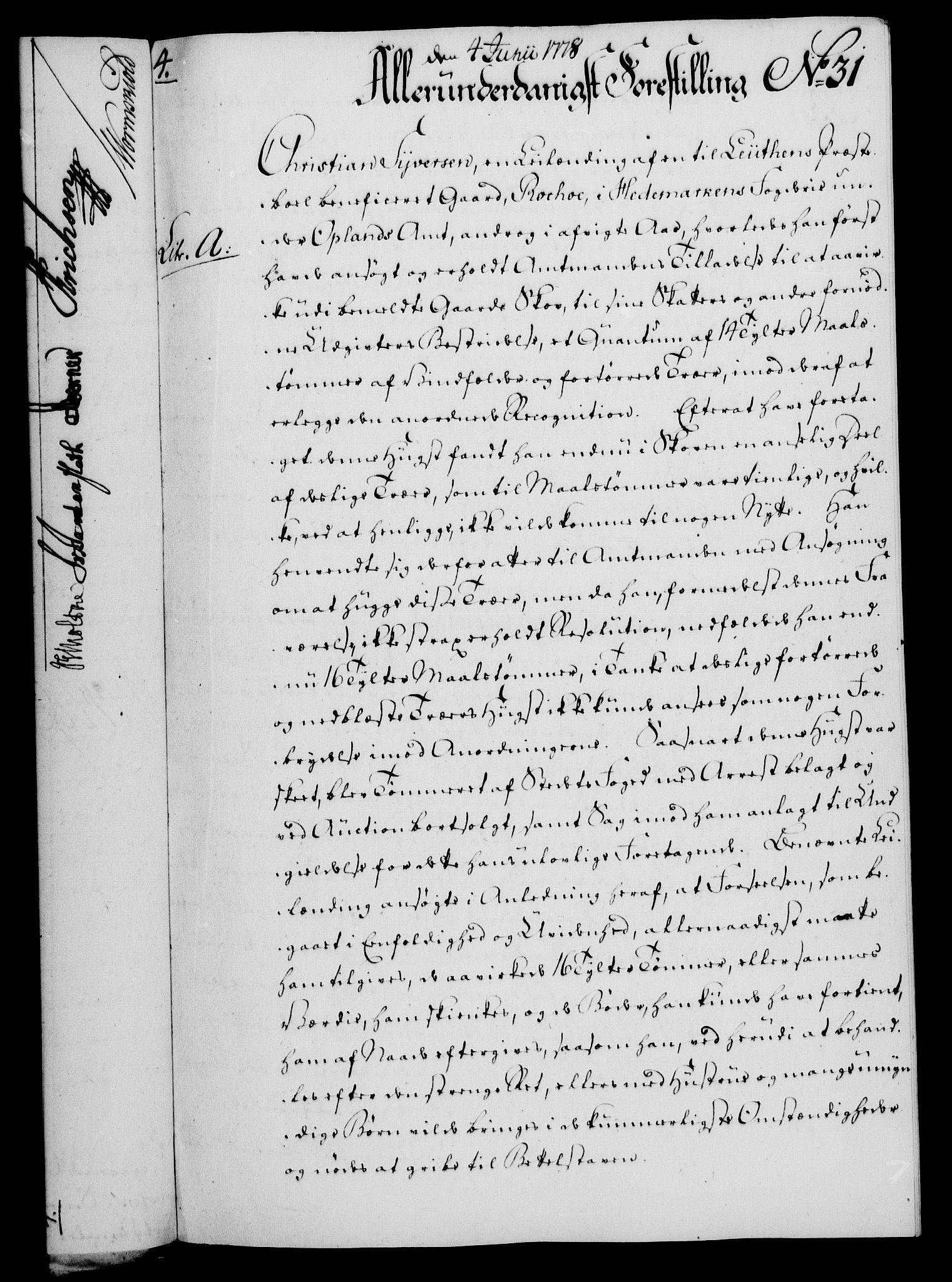 RA, Rentekammeret, Kammerkanselliet, G/Gf/Gfa/L0060: Norsk relasjons- og resolusjonsprotokoll (merket RK 52.60), 1778, s. 280