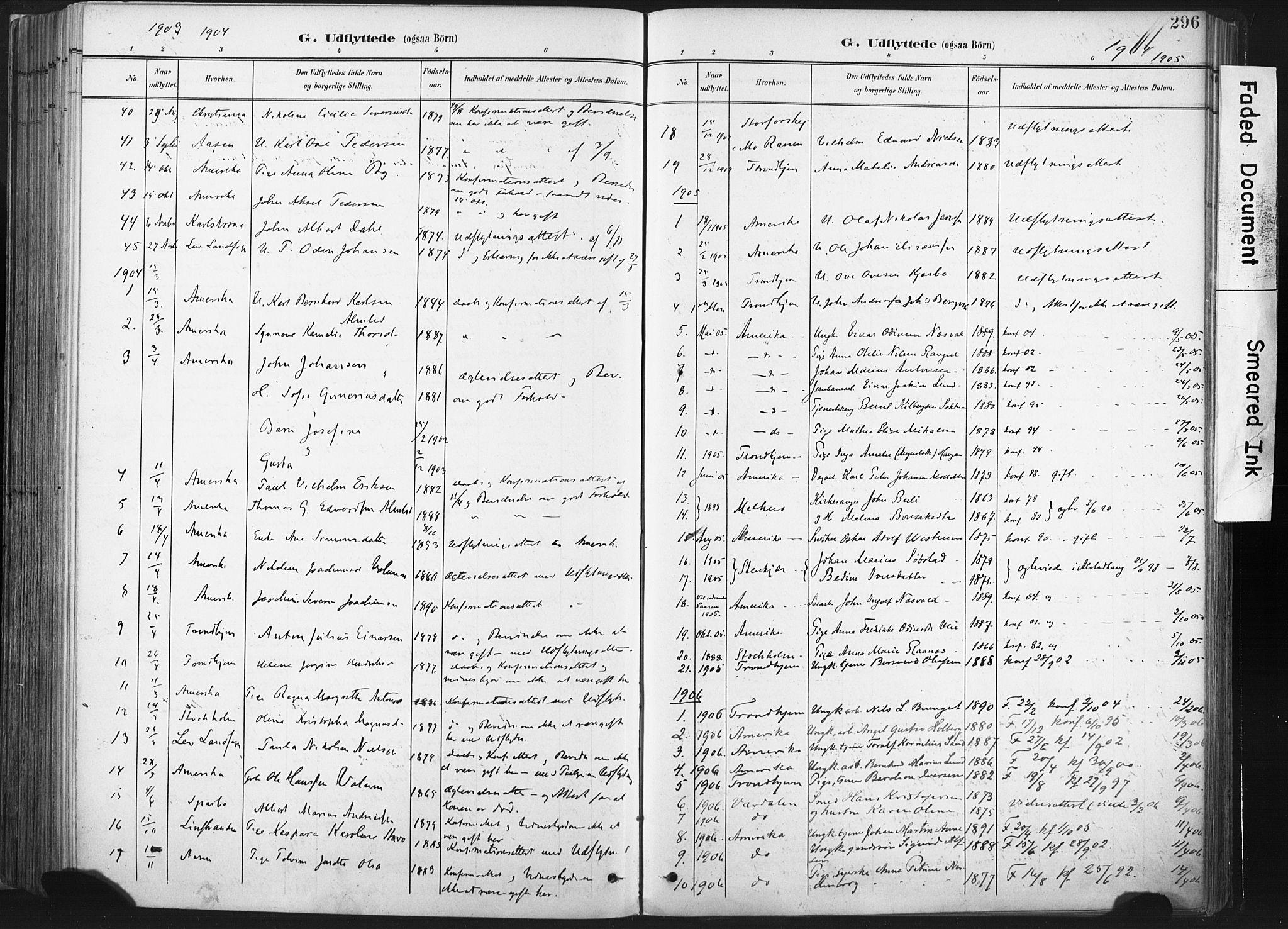 SAT, Ministerialprotokoller, klokkerbøker og fødselsregistre - Nord-Trøndelag, 717/L0162: Ministerialbok nr. 717A12, 1898-1923, s. 296