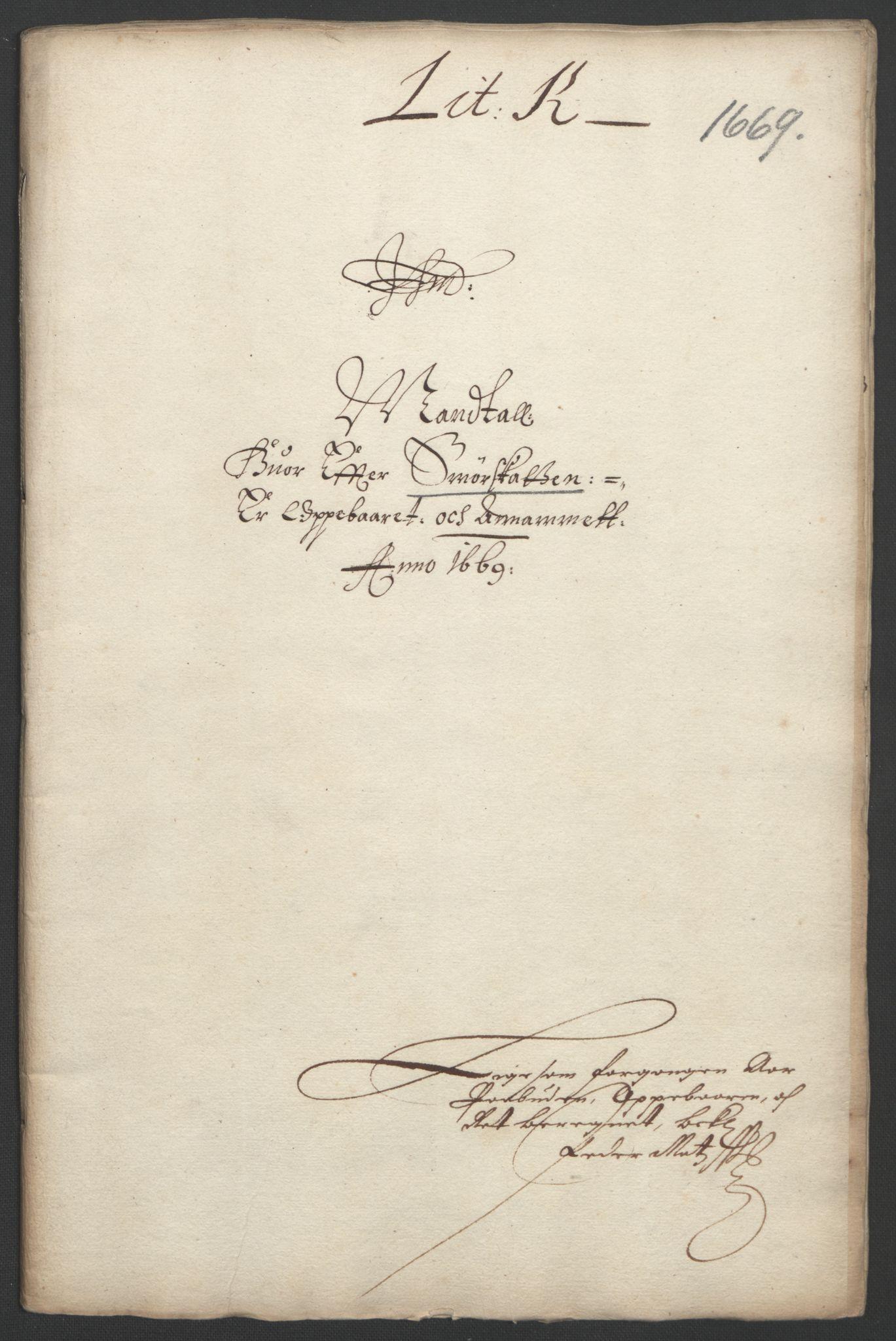 RA, Rentekammeret inntil 1814, Reviderte regnskaper, Fogderegnskap, R33/L1965: Fogderegnskap Larvik grevskap, 1669-1670, s. 86