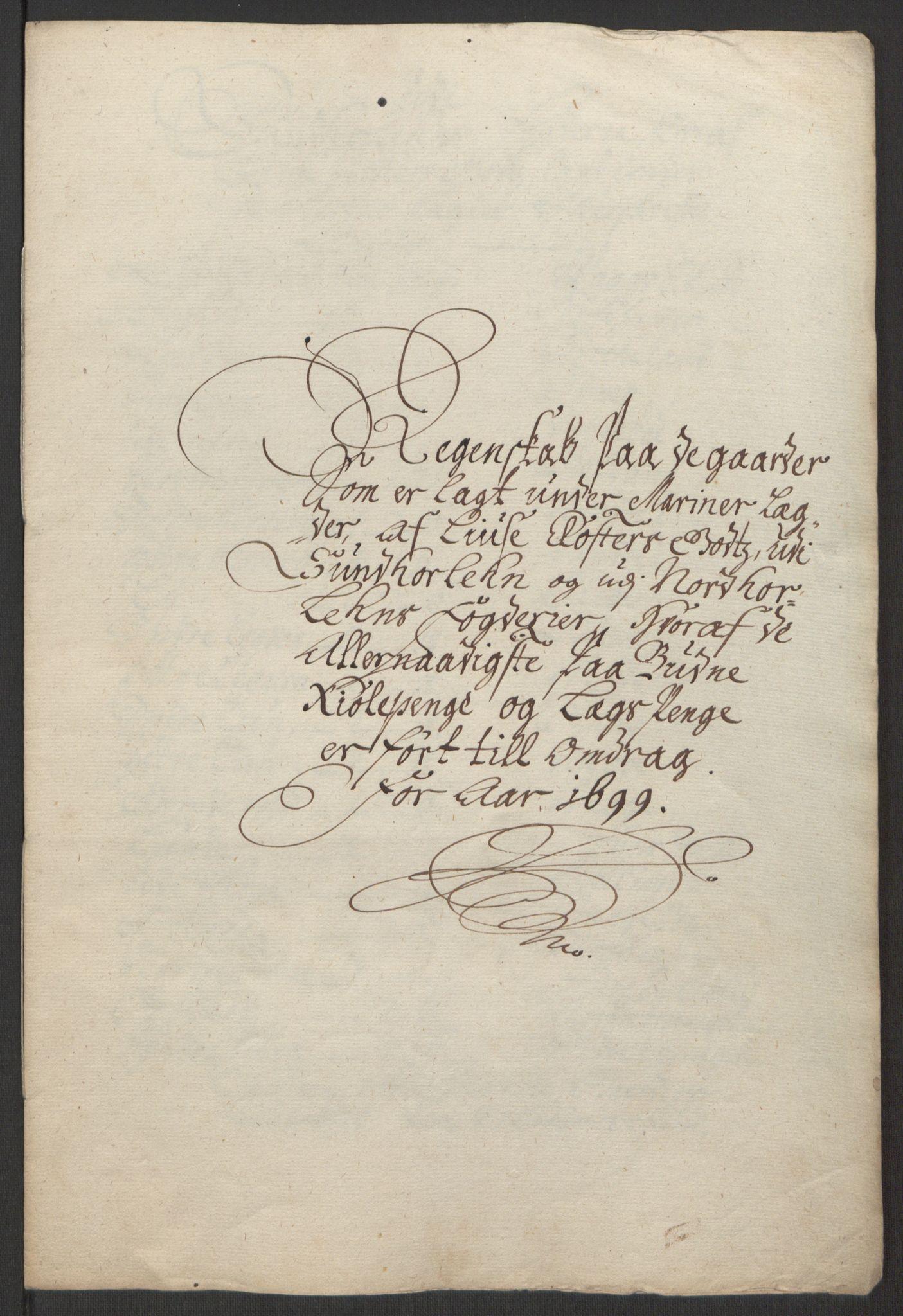 RA, Rentekammeret inntil 1814, Reviderte regnskaper, Fogderegnskap, R50/L3159: Fogderegnskap Lyse kloster, 1691-1709, s. 108