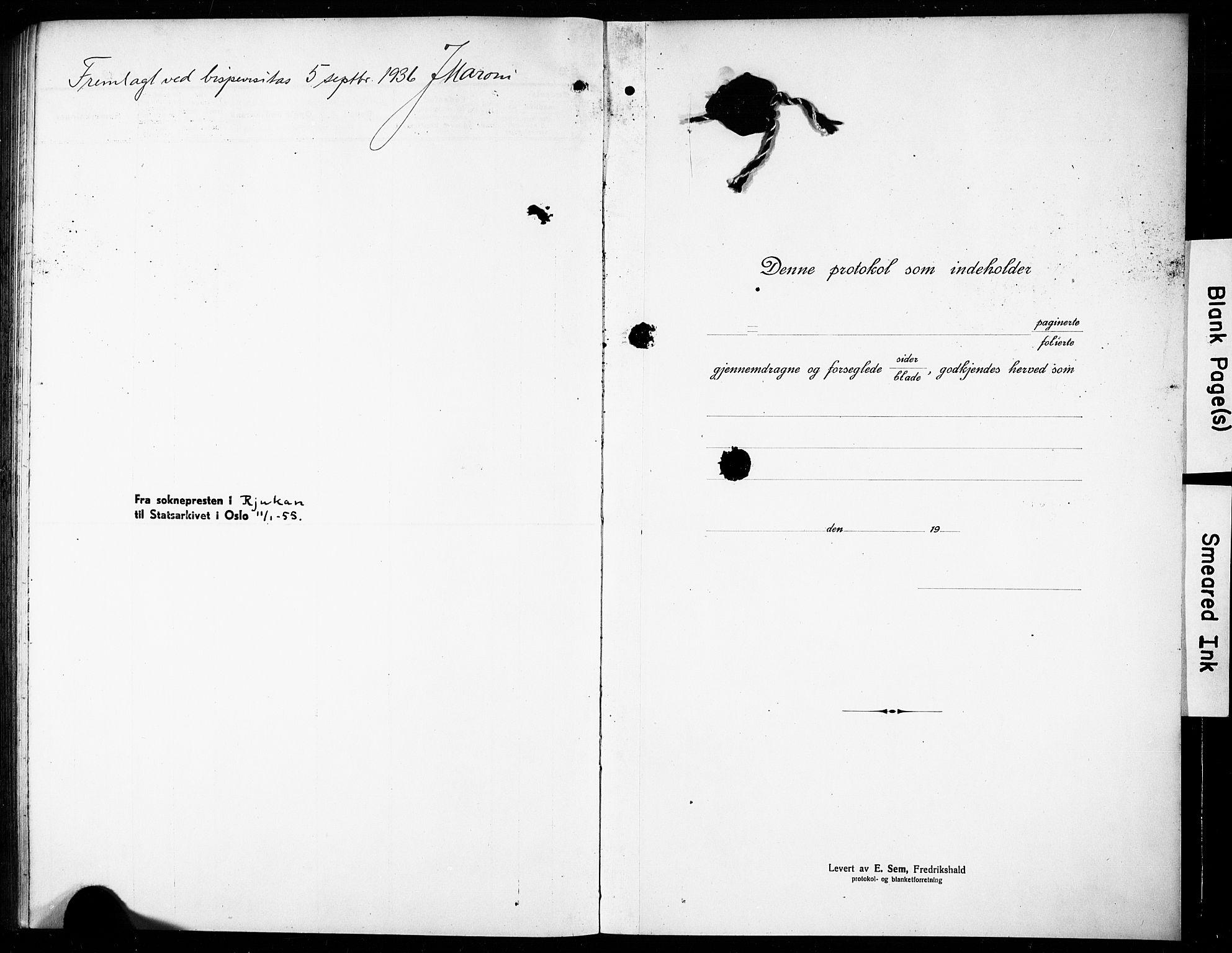 SAKO, Rjukan kirkebøker, G/Ga/L0003: Klokkerbok nr. 3, 1920-1928