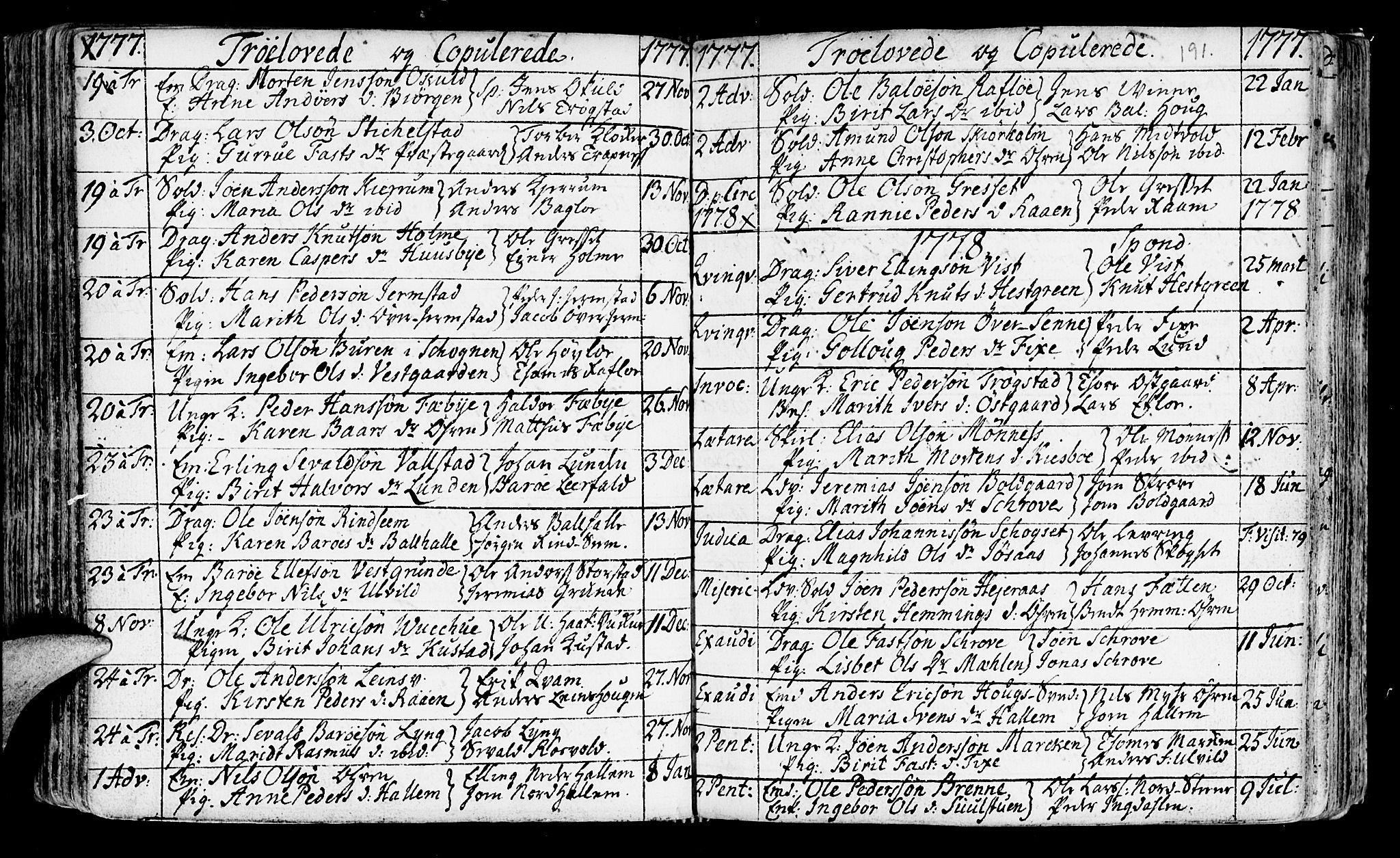 SAT, Ministerialprotokoller, klokkerbøker og fødselsregistre - Nord-Trøndelag, 723/L0231: Ministerialbok nr. 723A02, 1748-1780, s. 191