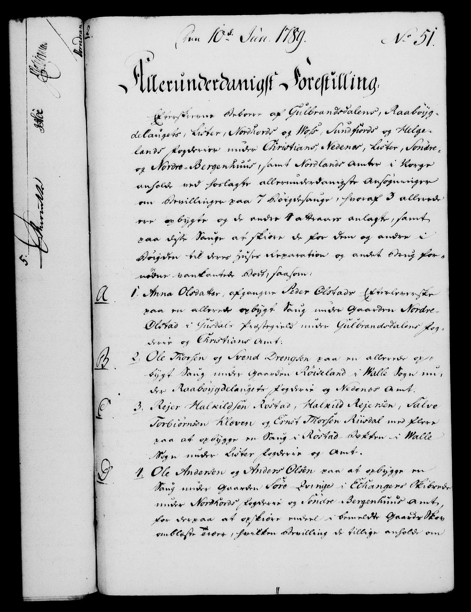 RA, Rentekammeret, Kammerkanselliet, G/Gf/Gfa/L0071: Norsk relasjons- og resolusjonsprotokoll (merket RK 52.71), 1789, s. 323