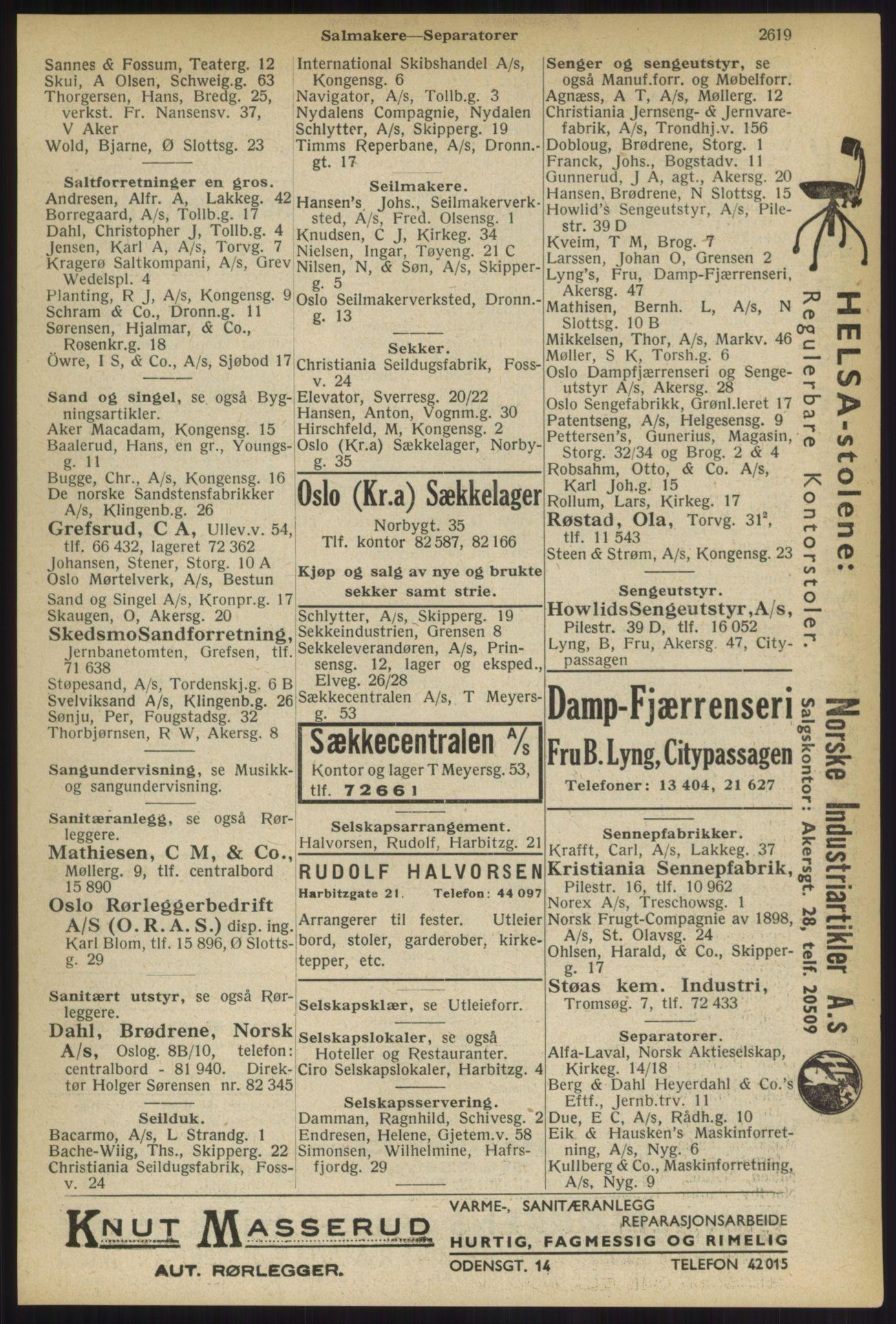 RA, Oslo adressebok (publikasjon)*, 1936, s. 2619