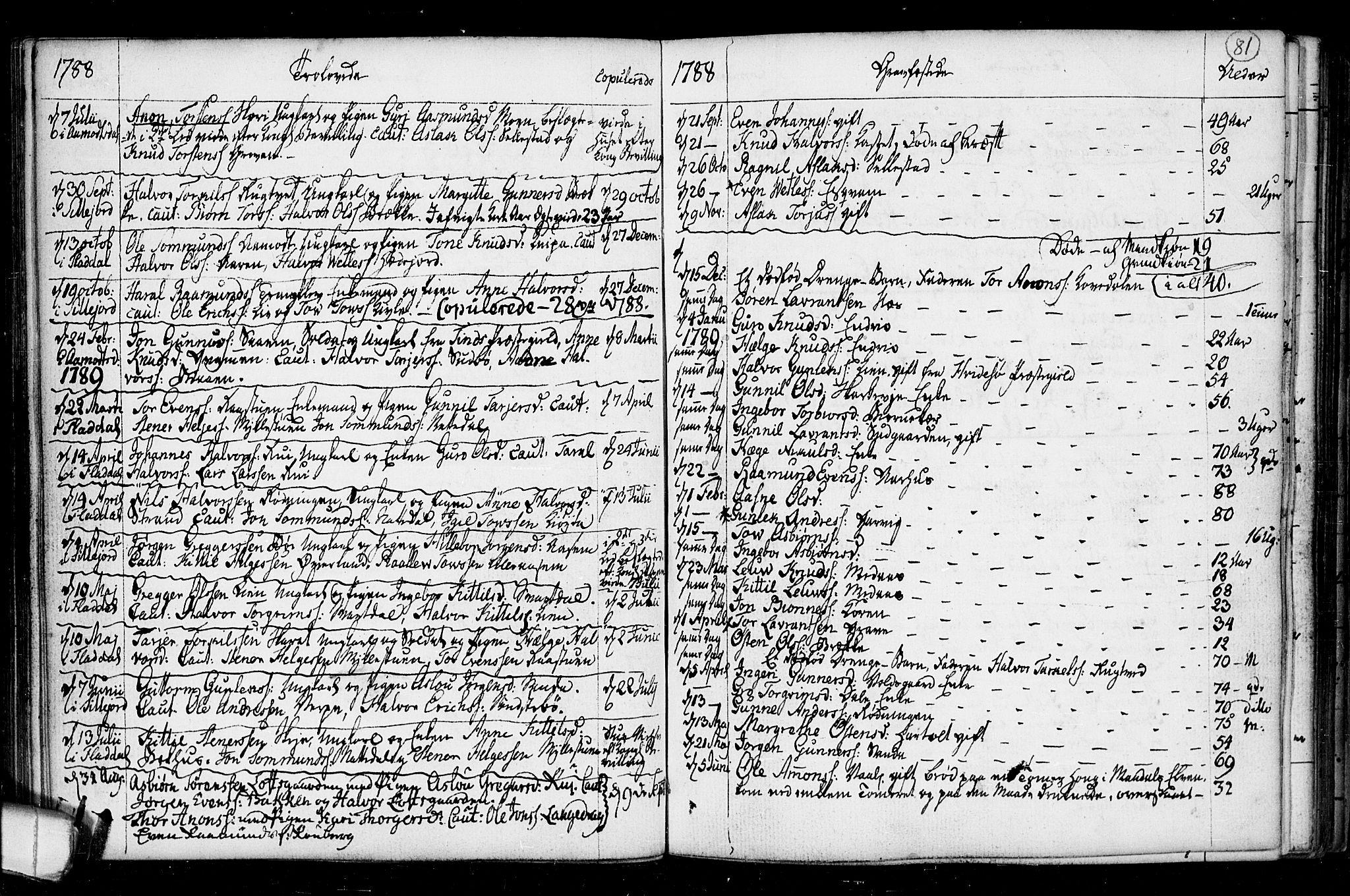 SAKO, Seljord kirkebøker, F/Fa/L0008: Ministerialbok nr. I 8, 1755-1814, s. 81
