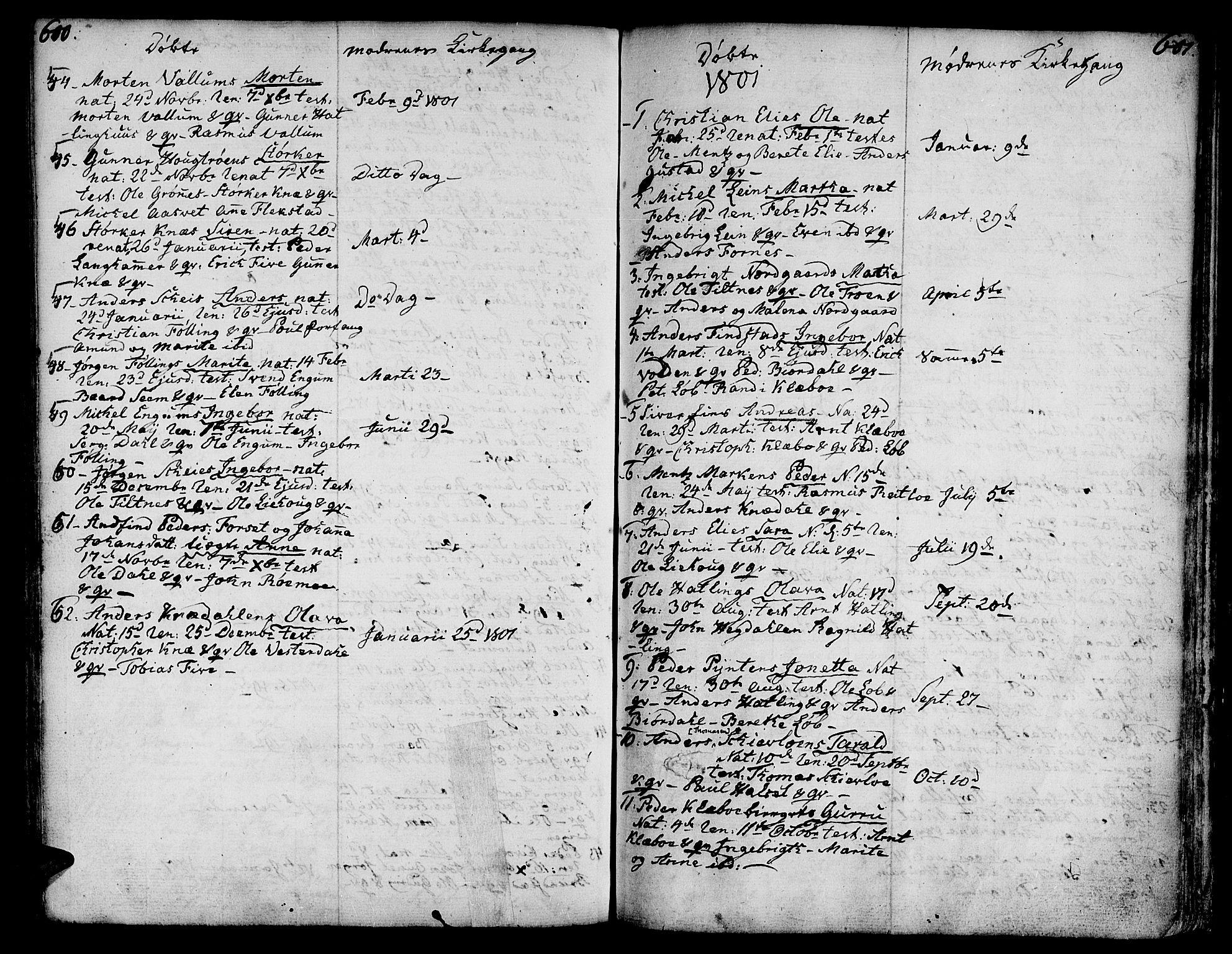 SAT, Ministerialprotokoller, klokkerbøker og fødselsregistre - Nord-Trøndelag, 746/L0440: Ministerialbok nr. 746A02, 1760-1815, s. 600-601