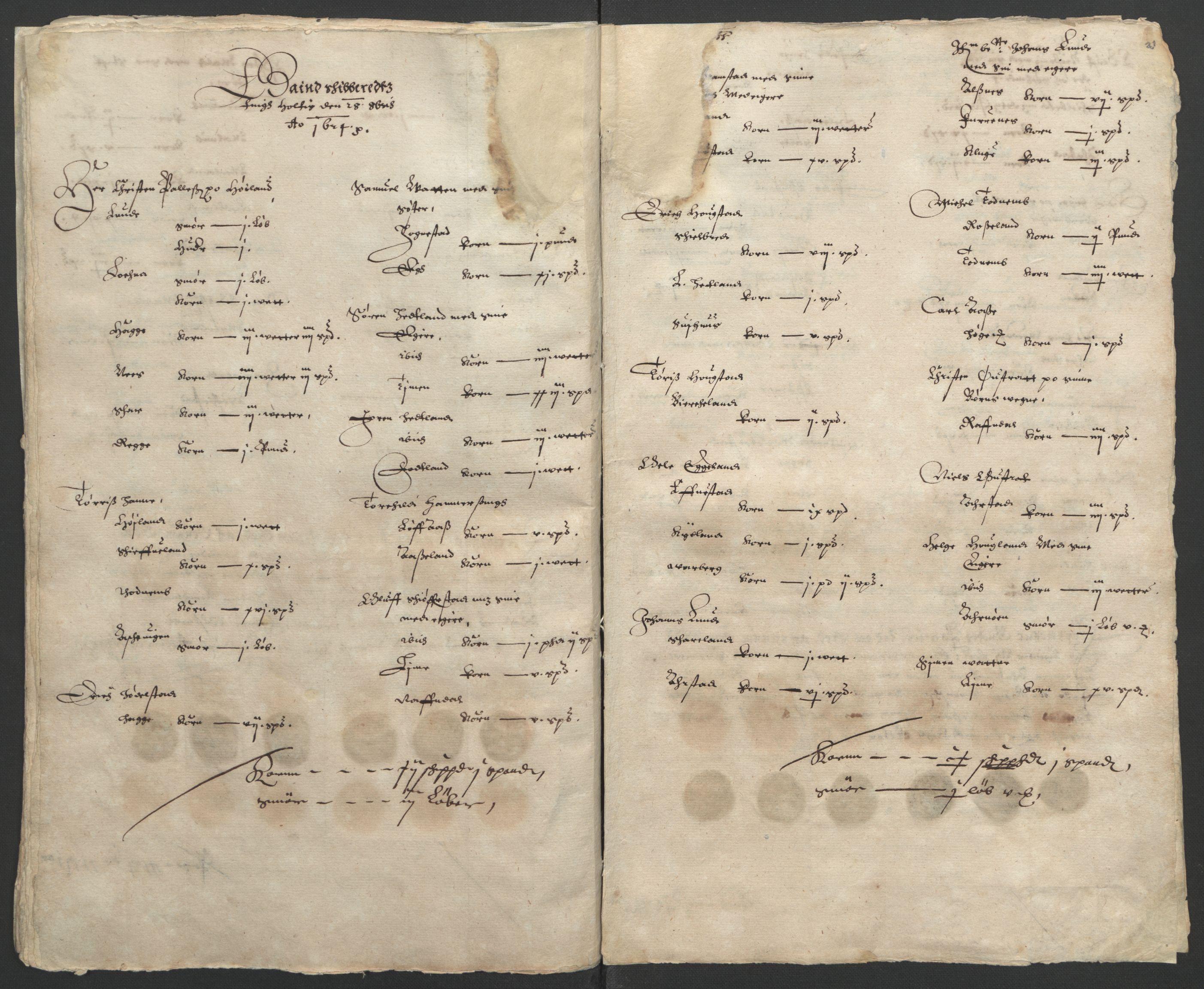 RA, Stattholderembetet 1572-1771, Ek/L0010: Jordebøker til utlikning av rosstjeneste 1624-1626:, 1624-1626, s. 55