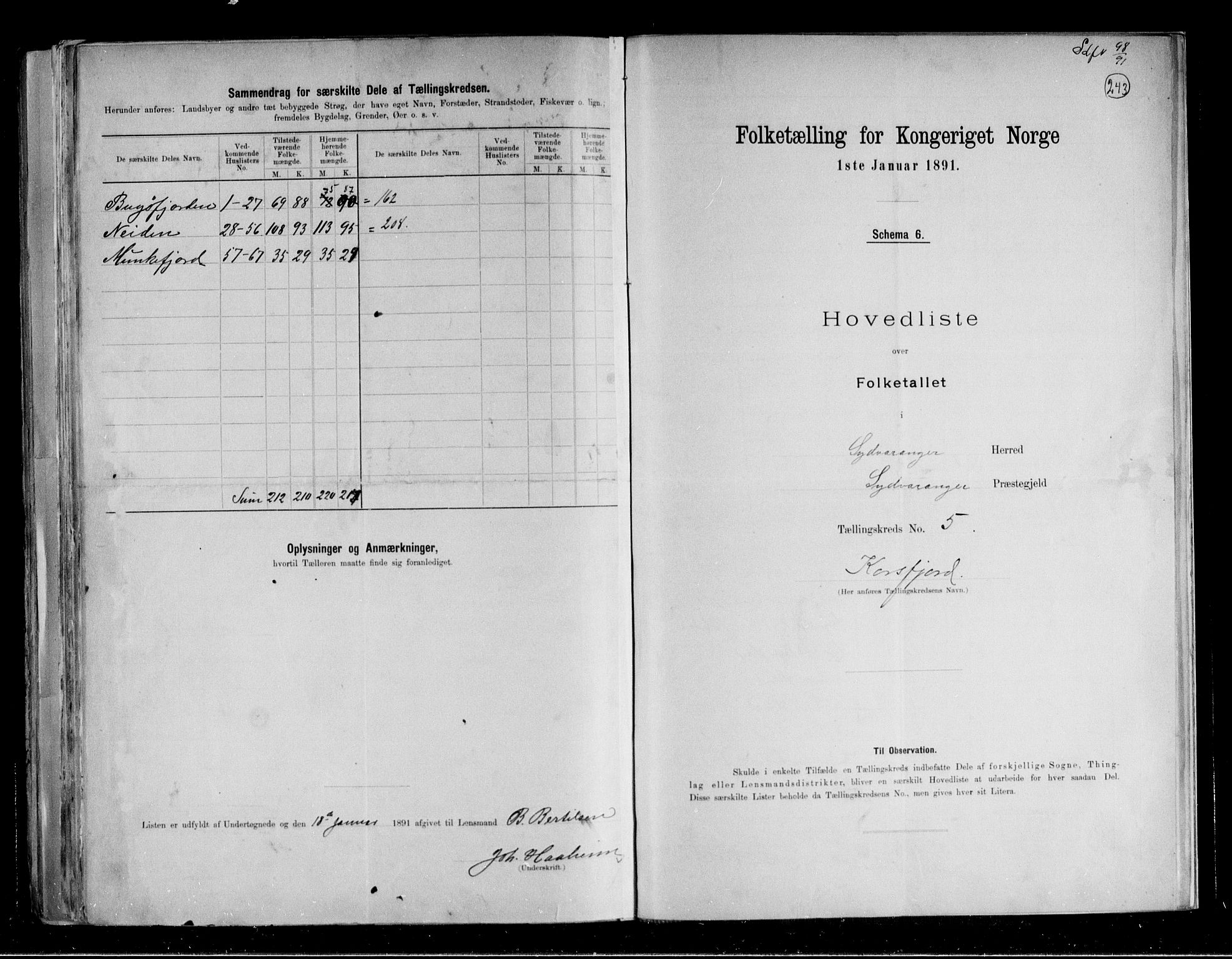 RA, Folketelling 1891 for 2030 Sør-Varanger herred, 1891, s. 13