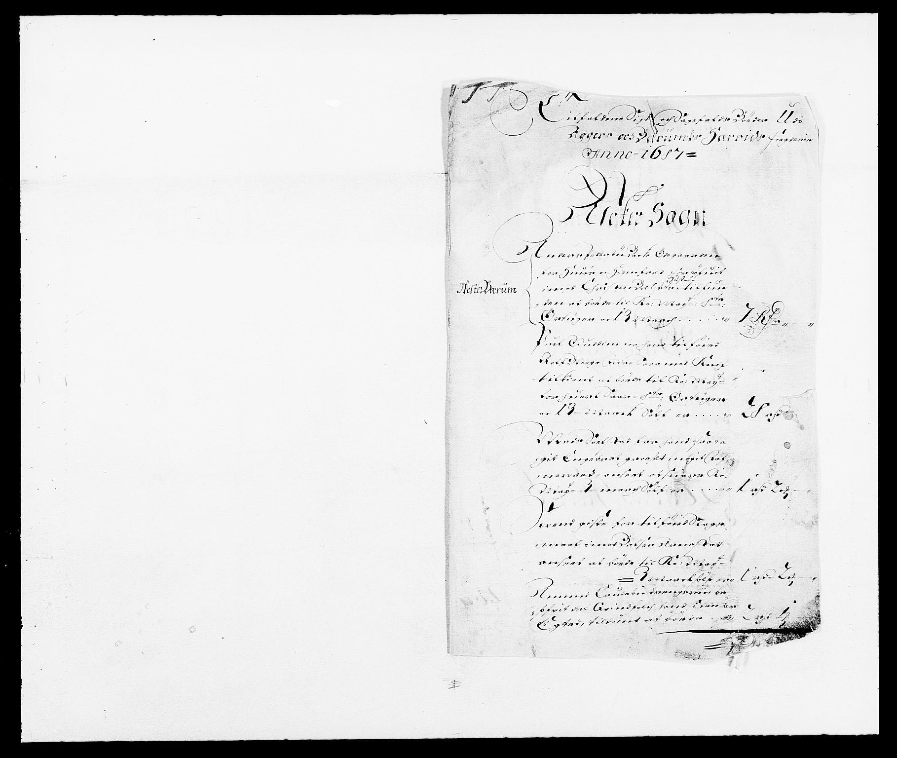 RA, Rentekammeret inntil 1814, Reviderte regnskaper, Fogderegnskap, R08/L0422: Fogderegnskap Aker, 1684-1686, s. 157