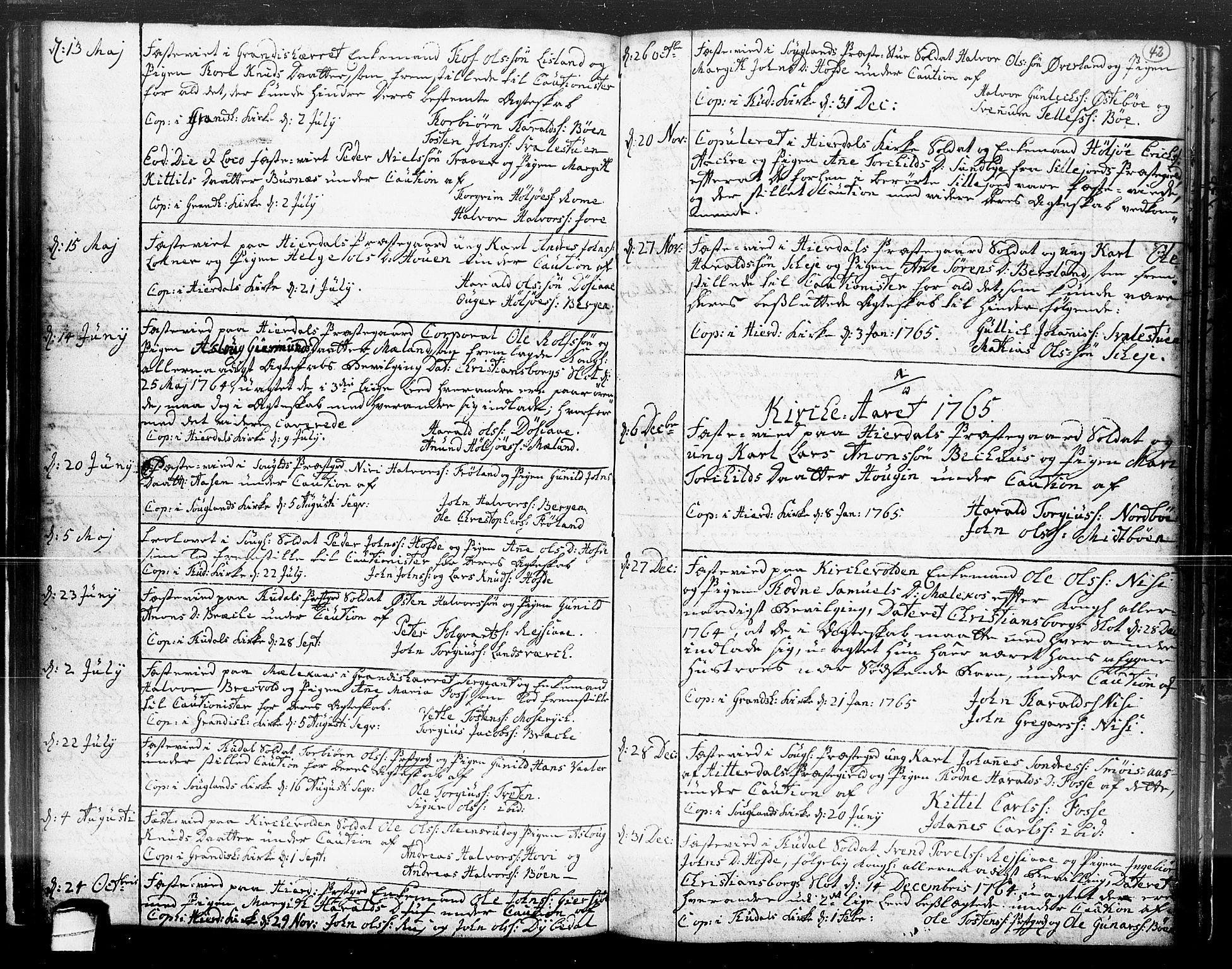 SAKO, Hjartdal kirkebøker, F/Fa/L0004: Ministerialbok nr. I 4, 1727-1795, s. 42