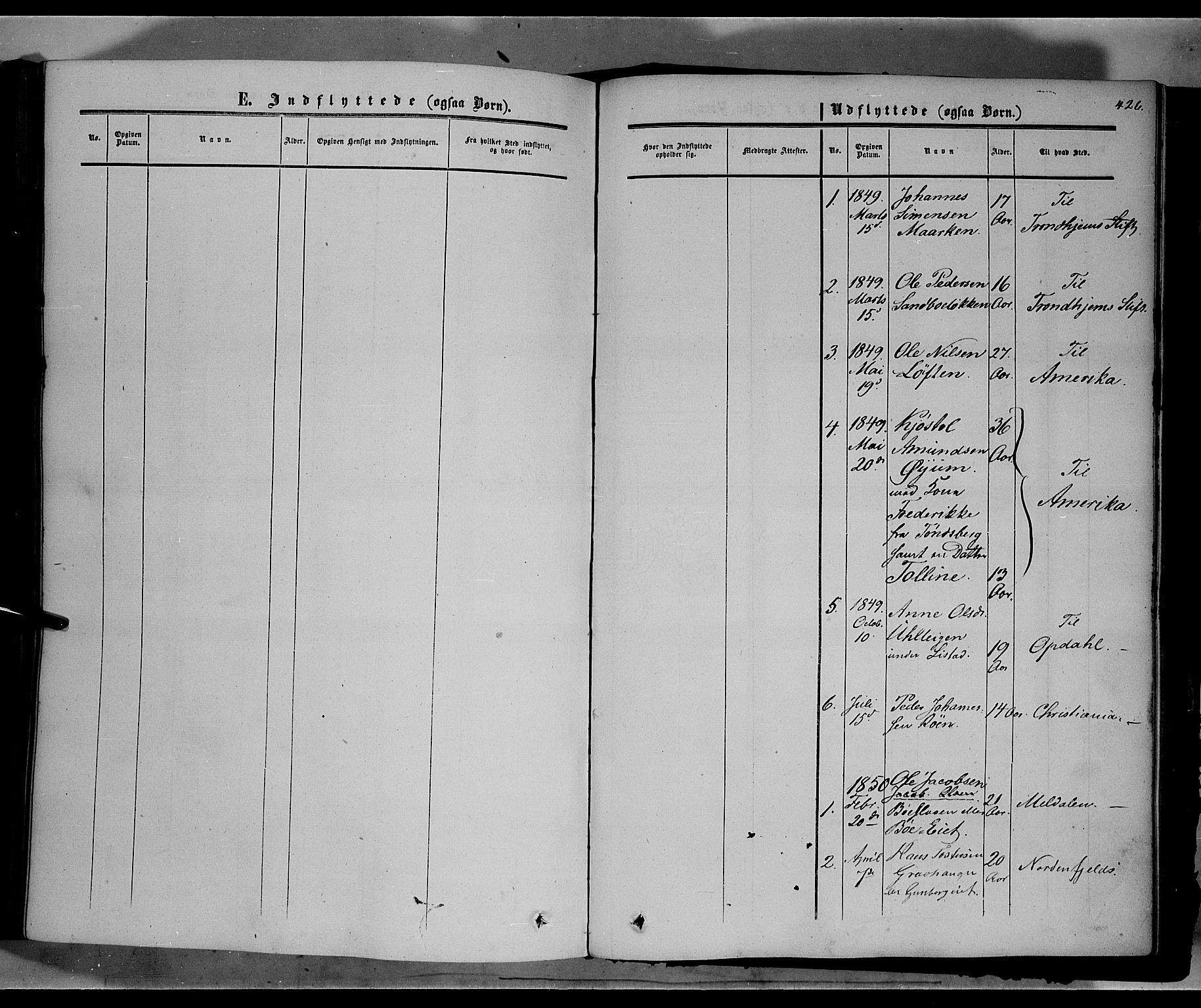 SAH, Sør-Fron prestekontor, H/Ha/Haa/L0001: Ministerialbok nr. 1, 1849-1863, s. 426