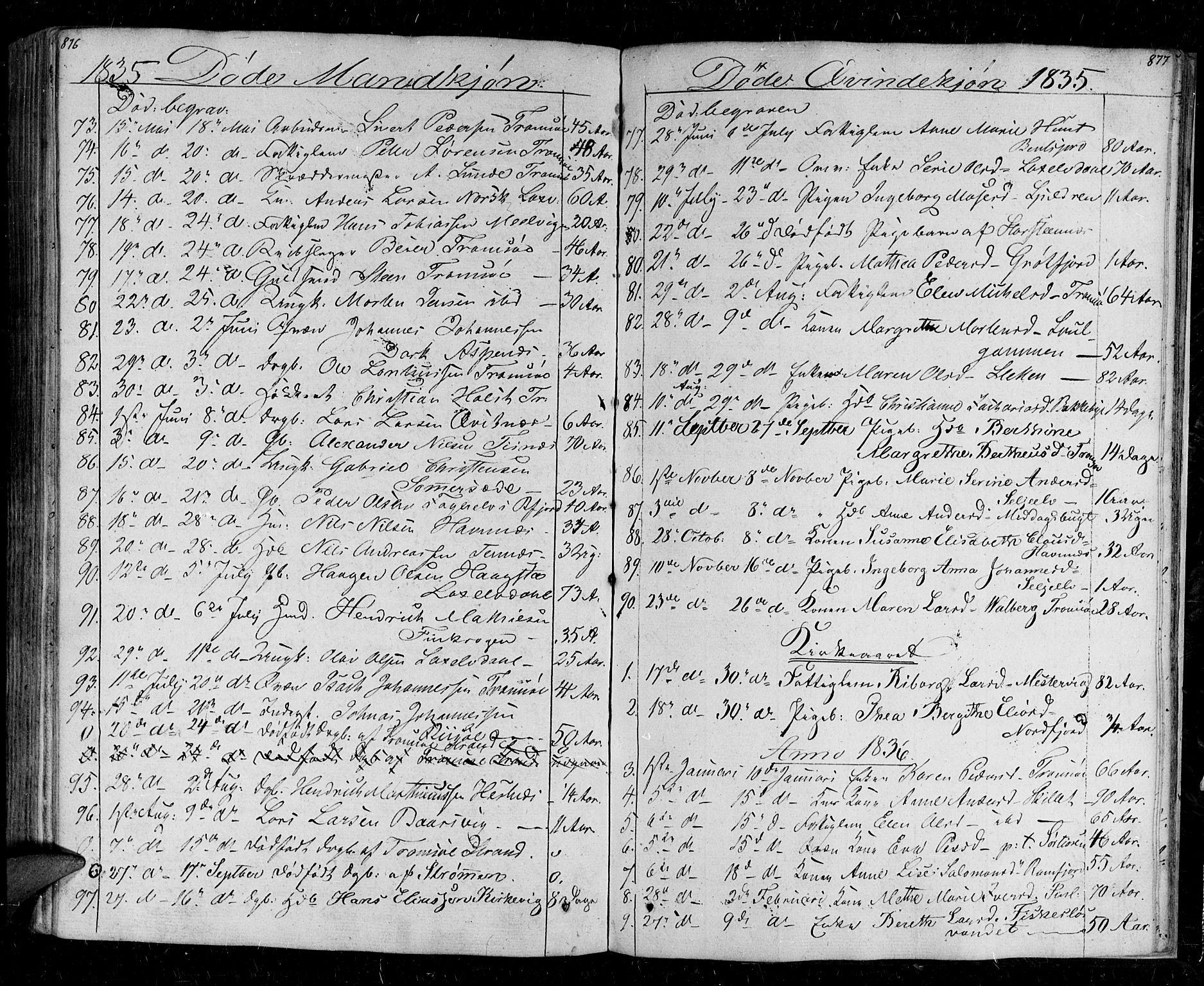 SATØ, Tromsø sokneprestkontor/stiftsprosti/domprosti, G/Ga/L0008kirke: Ministerialbok nr. 8, 1829-1837, s. 876-877