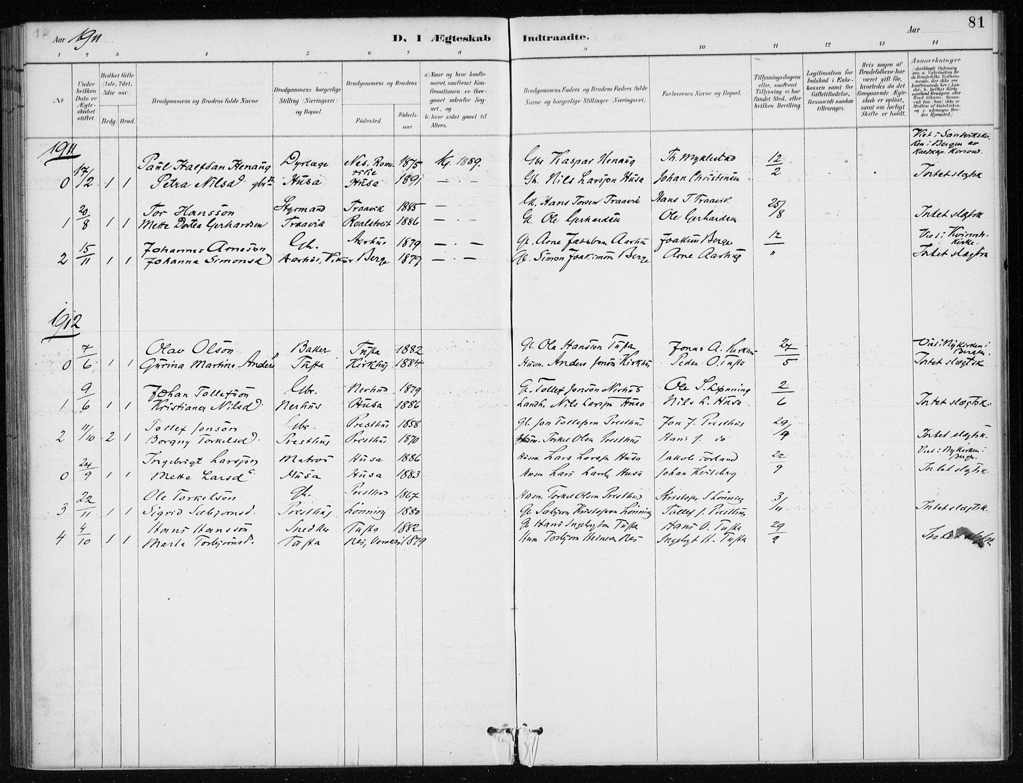 SAB, Kvinnherad Sokneprestembete, H/Haa: Ministerialbok nr. E 1, 1887-1912, s. 81