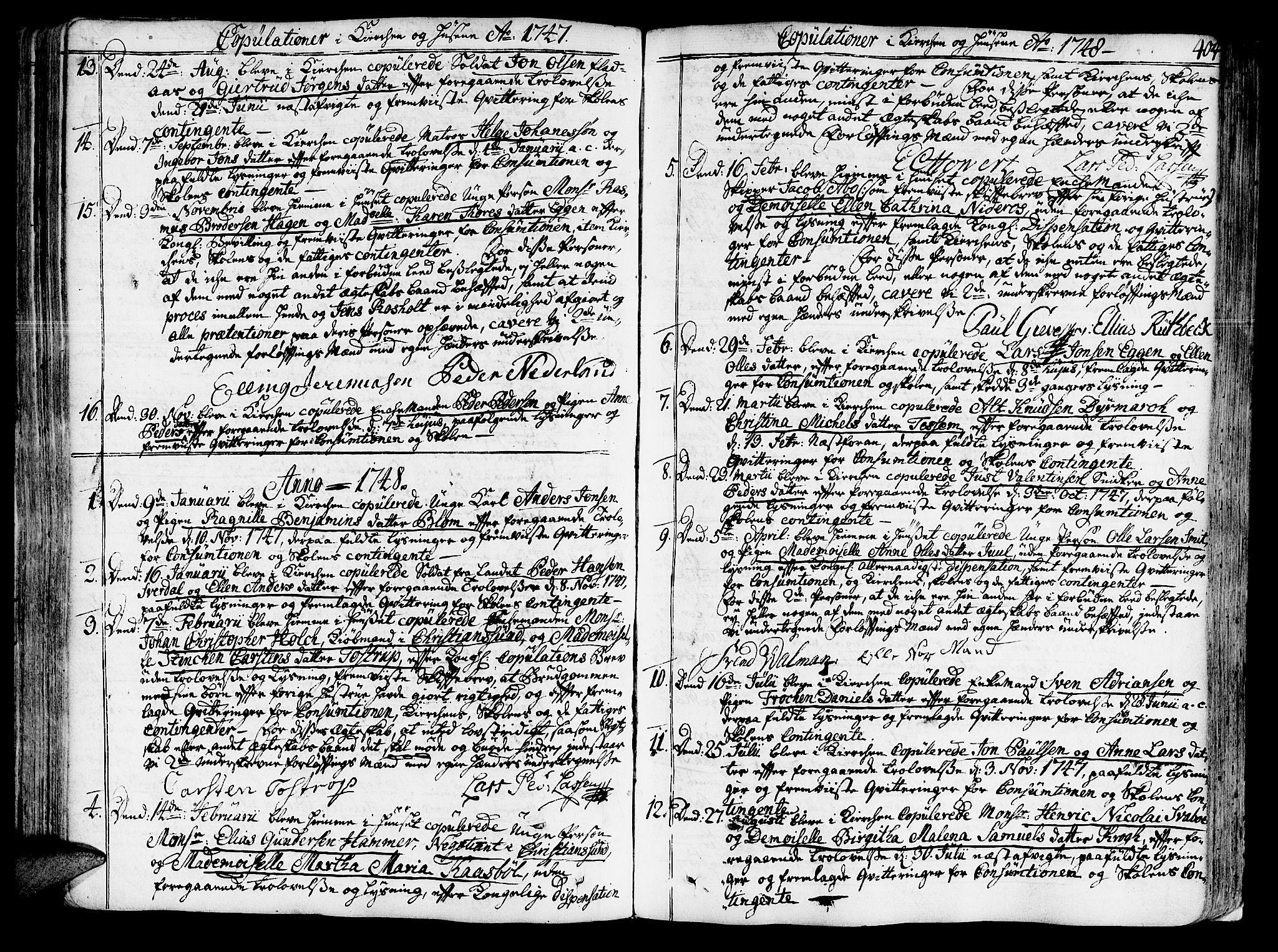 SAT, Ministerialprotokoller, klokkerbøker og fødselsregistre - Sør-Trøndelag, 602/L0103: Ministerialbok nr. 602A01, 1732-1774, s. 404