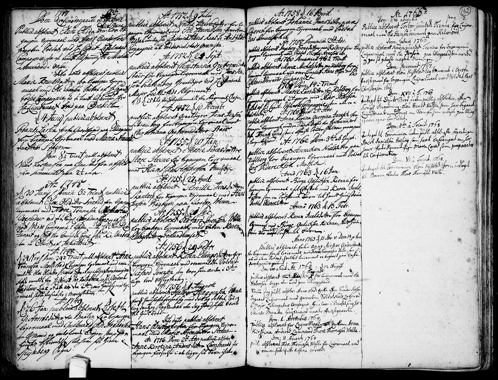 SAO, Onsøy prestekontor Kirkebøker, F/Fa/L0001: Ministerialbok nr. I 1, 1733-1814, s. 162