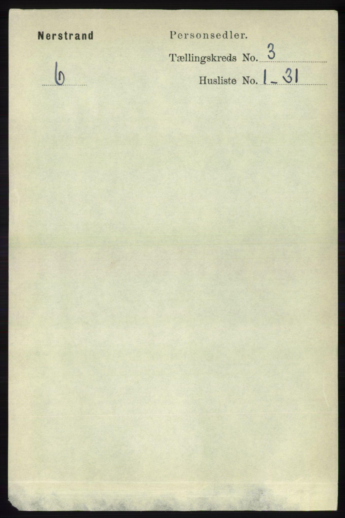 RA, Folketelling 1891 for 1139 Nedstrand herred, 1891, s. 447