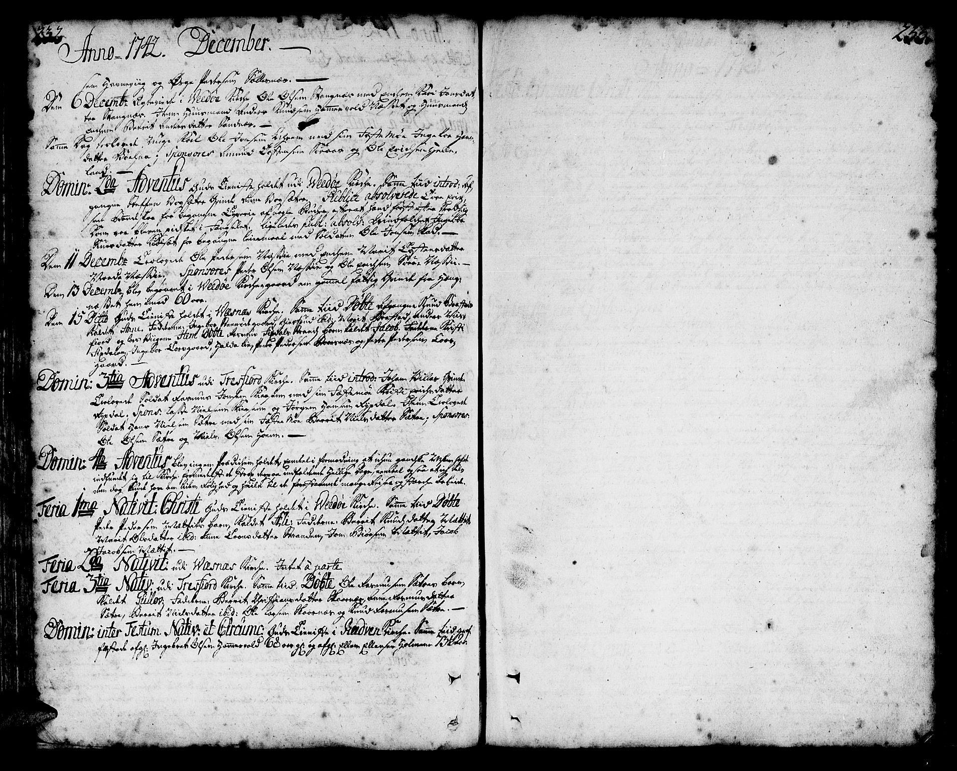 SAT, Ministerialprotokoller, klokkerbøker og fødselsregistre - Møre og Romsdal, 547/L0599: Ministerialbok nr. 547A01, 1721-1764, s. 232-233