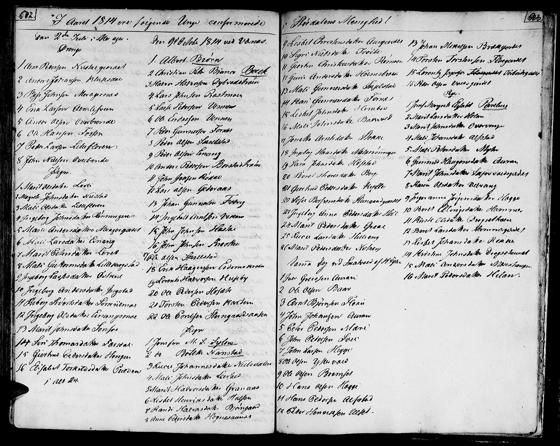 SAT, Ministerialprotokoller, klokkerbøker og fødselsregistre - Nord-Trøndelag, 709/L0060: Ministerialbok nr. 709A07, 1797-1815, s. 682-683