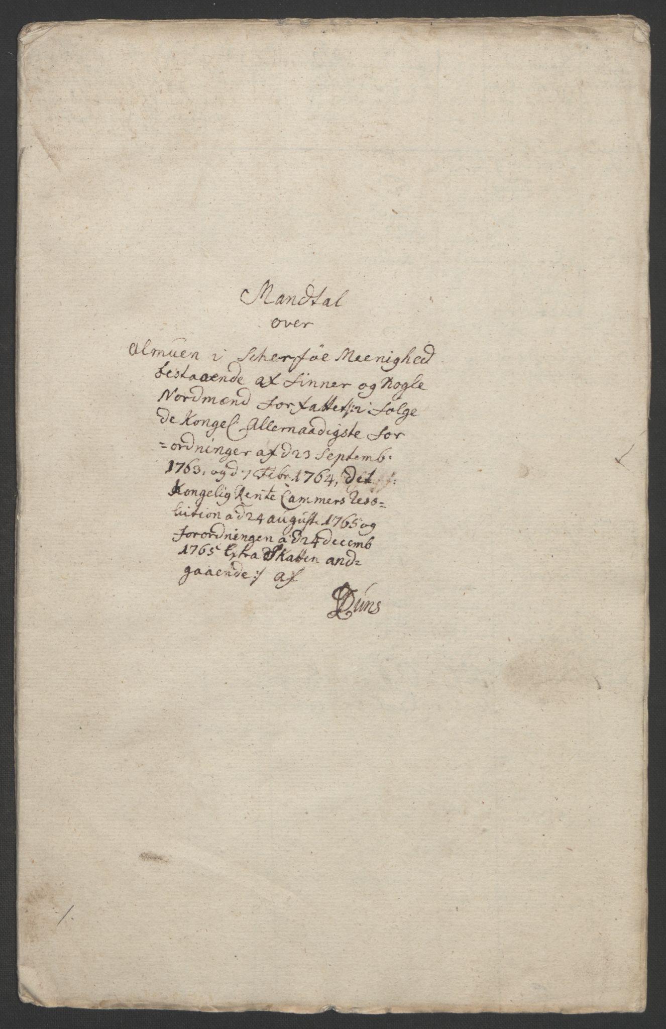 RA, Rentekammeret inntil 1814, Realistisk ordnet avdeling, Ol/L0022b: [Gg 10]: Ekstraskatten, 23.09.1762. Senja og Troms, 1765-1768, s. 198
