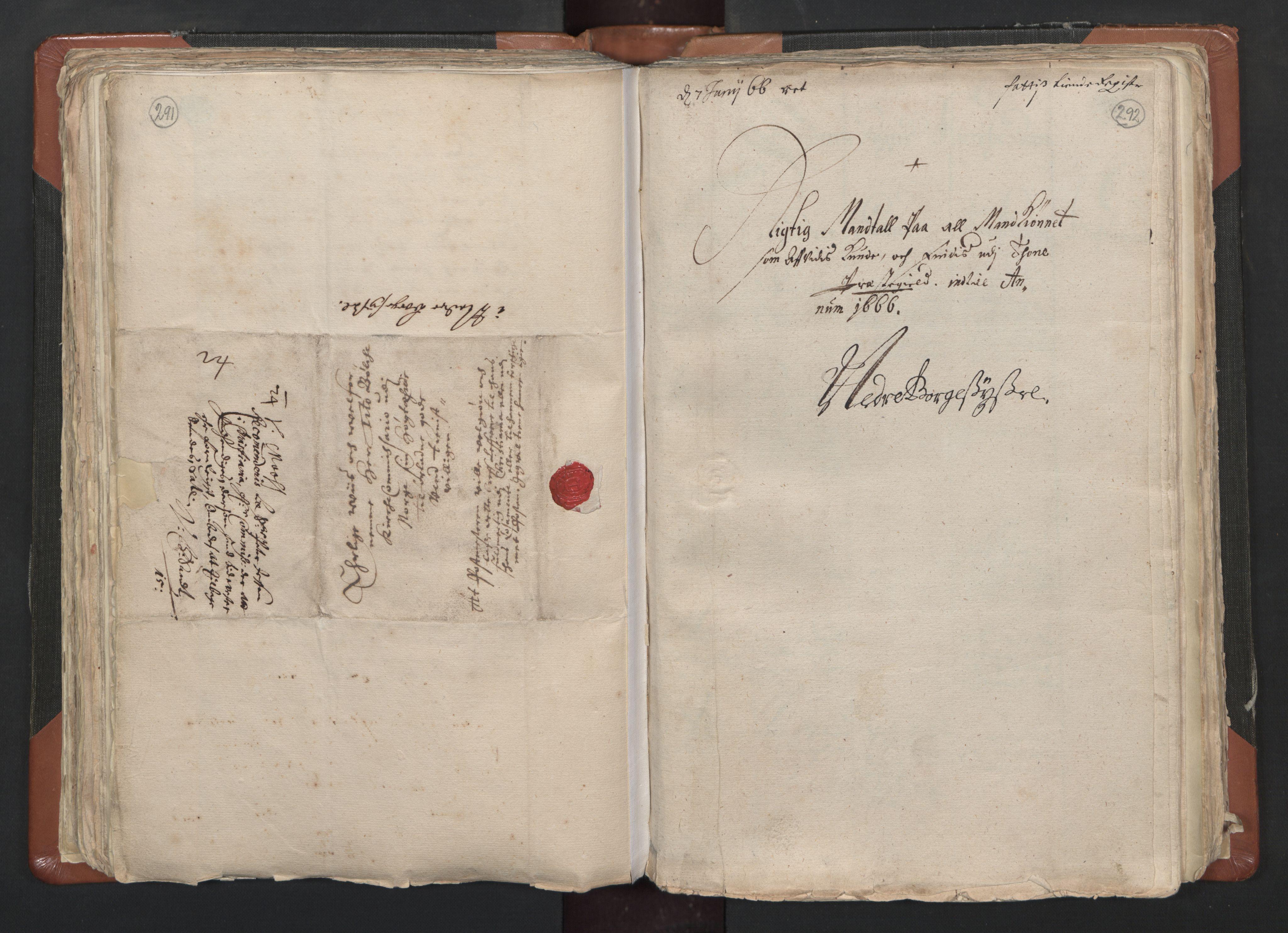 RA, Sogneprestenes manntall 1664-1666, nr. 1: Nedre Borgesyssel prosti, 1664-1666, s. 291-292