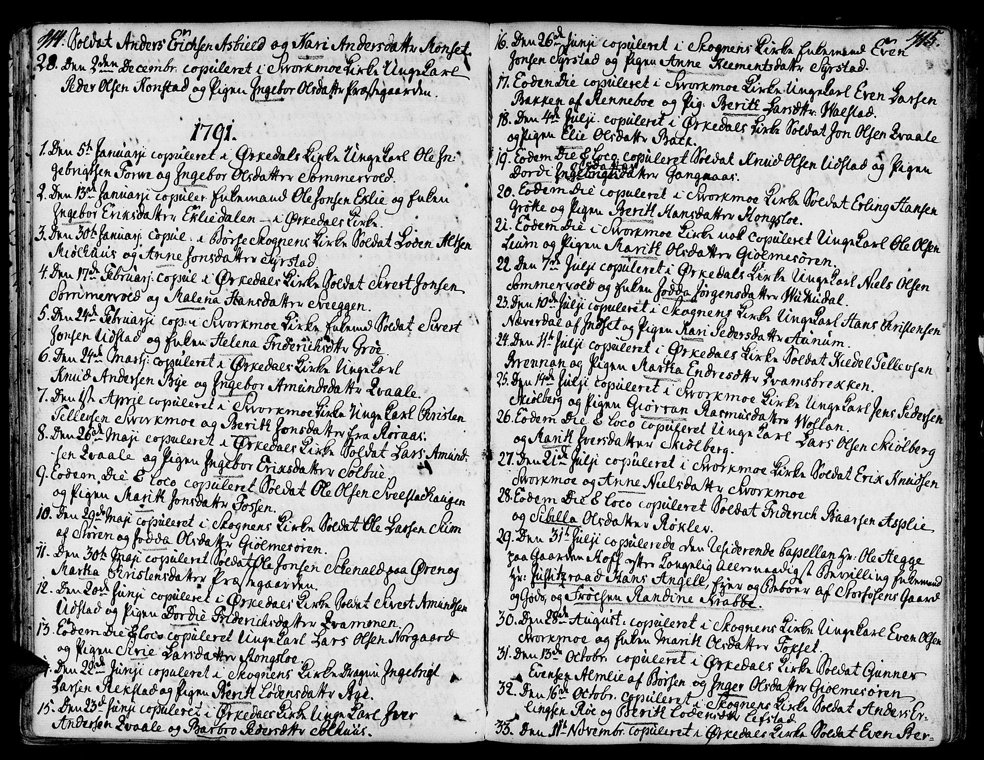 SAT, Ministerialprotokoller, klokkerbøker og fødselsregistre - Sør-Trøndelag, 668/L0802: Ministerialbok nr. 668A02, 1776-1799, s. 414-415