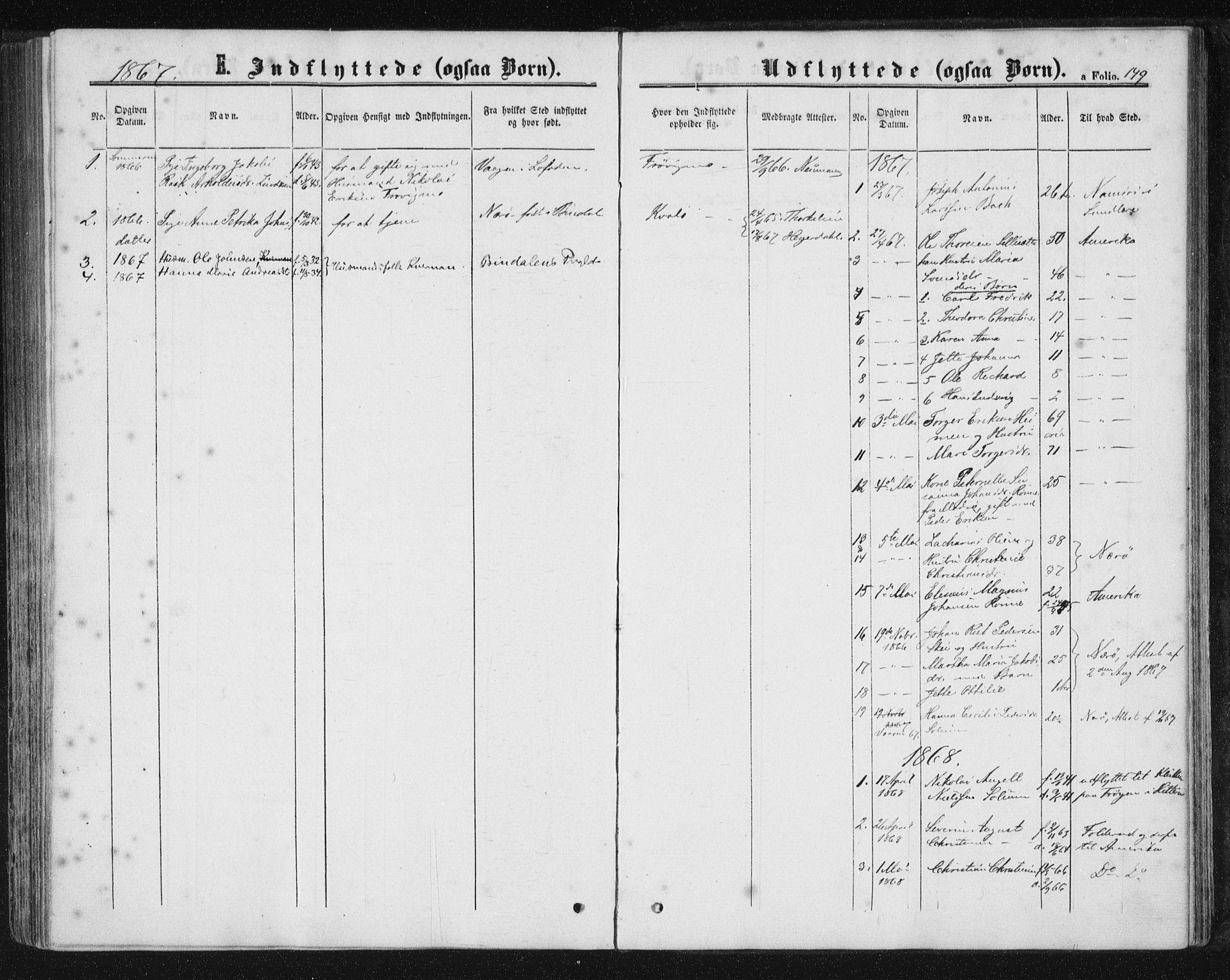 SAT, Ministerialprotokoller, klokkerbøker og fødselsregistre - Nord-Trøndelag, 788/L0696: Ministerialbok nr. 788A03, 1863-1877, s. 149