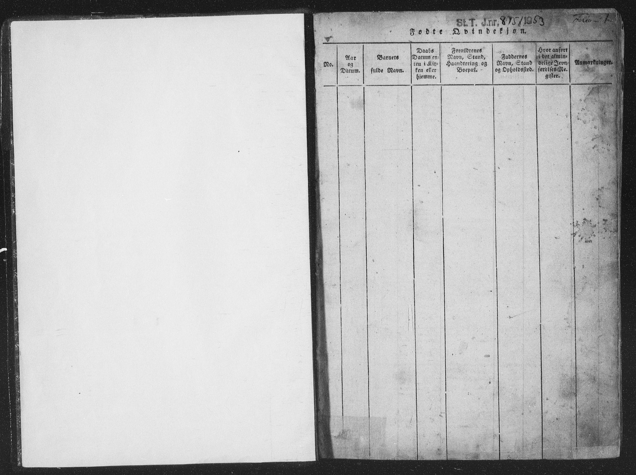 SAT, Ministerialprotokoller, klokkerbøker og fødselsregistre - Nord-Trøndelag, 773/L0613: Ministerialbok nr. 773A04, 1815-1845, s. 1