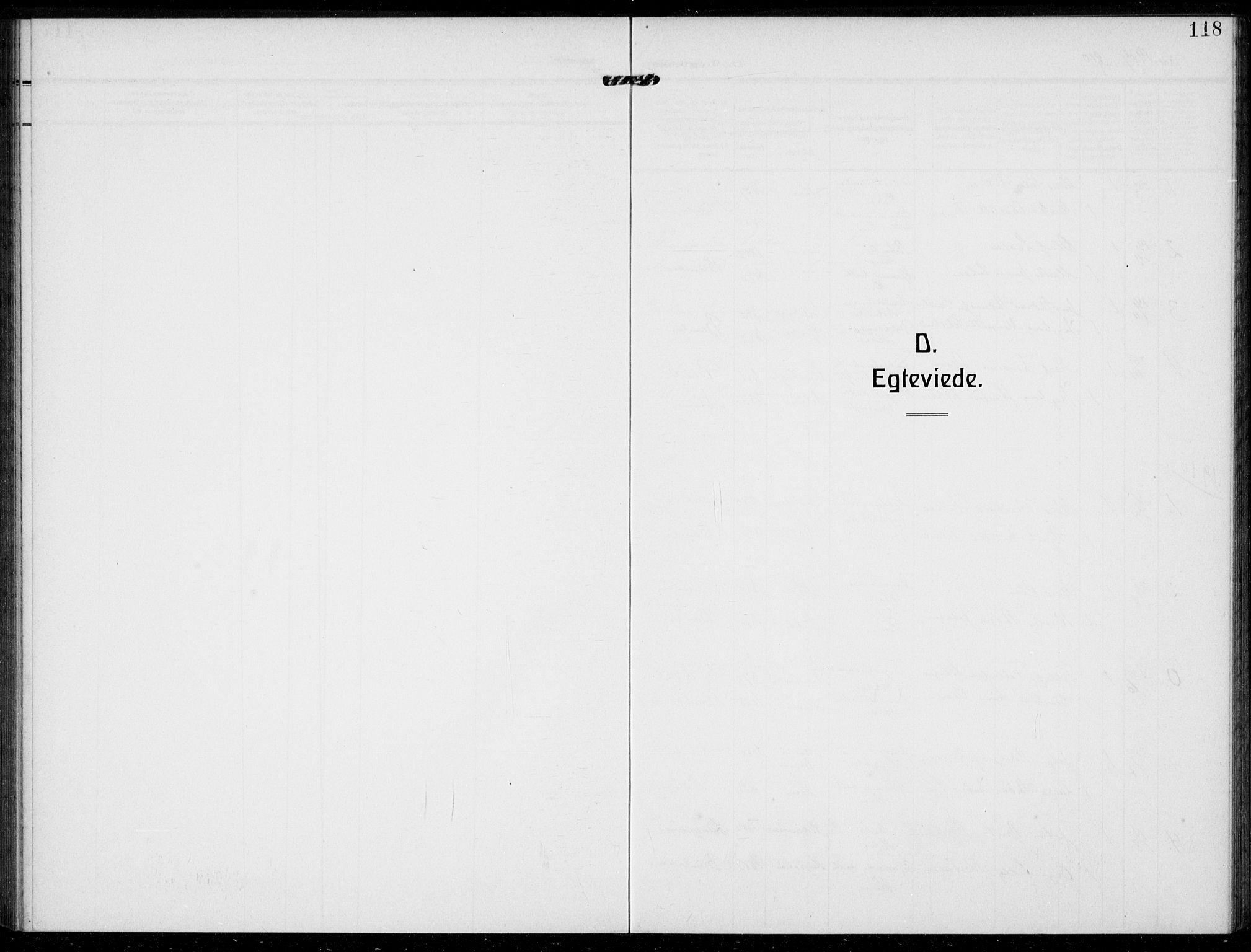 SAKO, Bamble kirkebøker, F/Fc/L0001: Ministerialbok nr. III 1, 1909-1916, s. 118