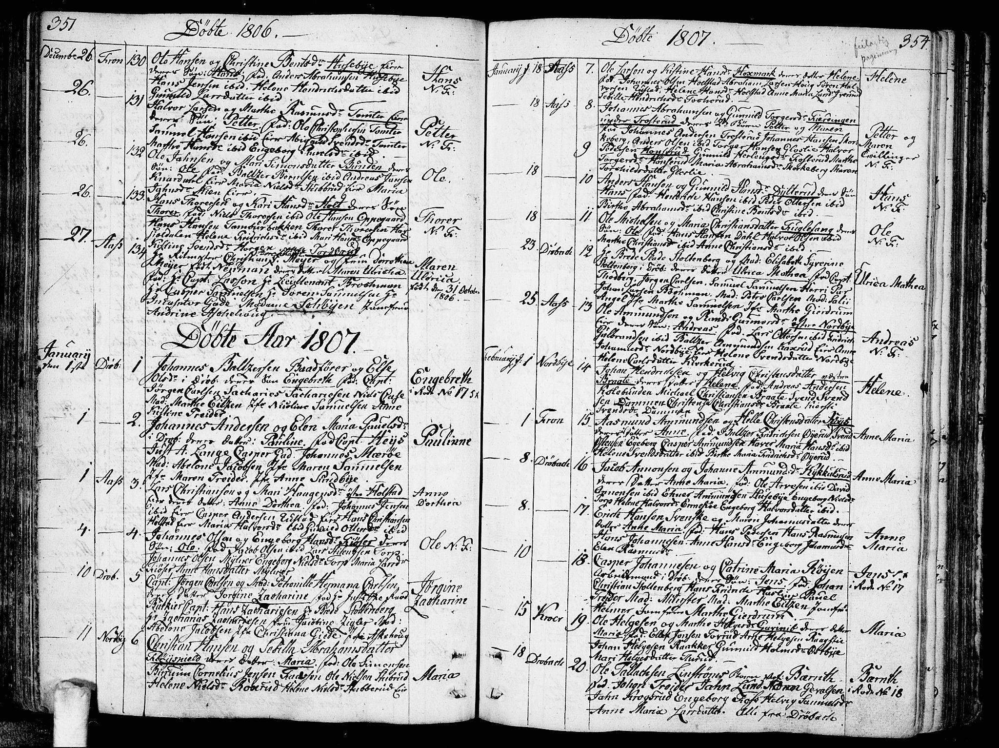 SAO, Ås prestekontor Kirkebøker, F/Fa/L0002: Ministerialbok nr. I 2, 1778-1813, s. 351-352