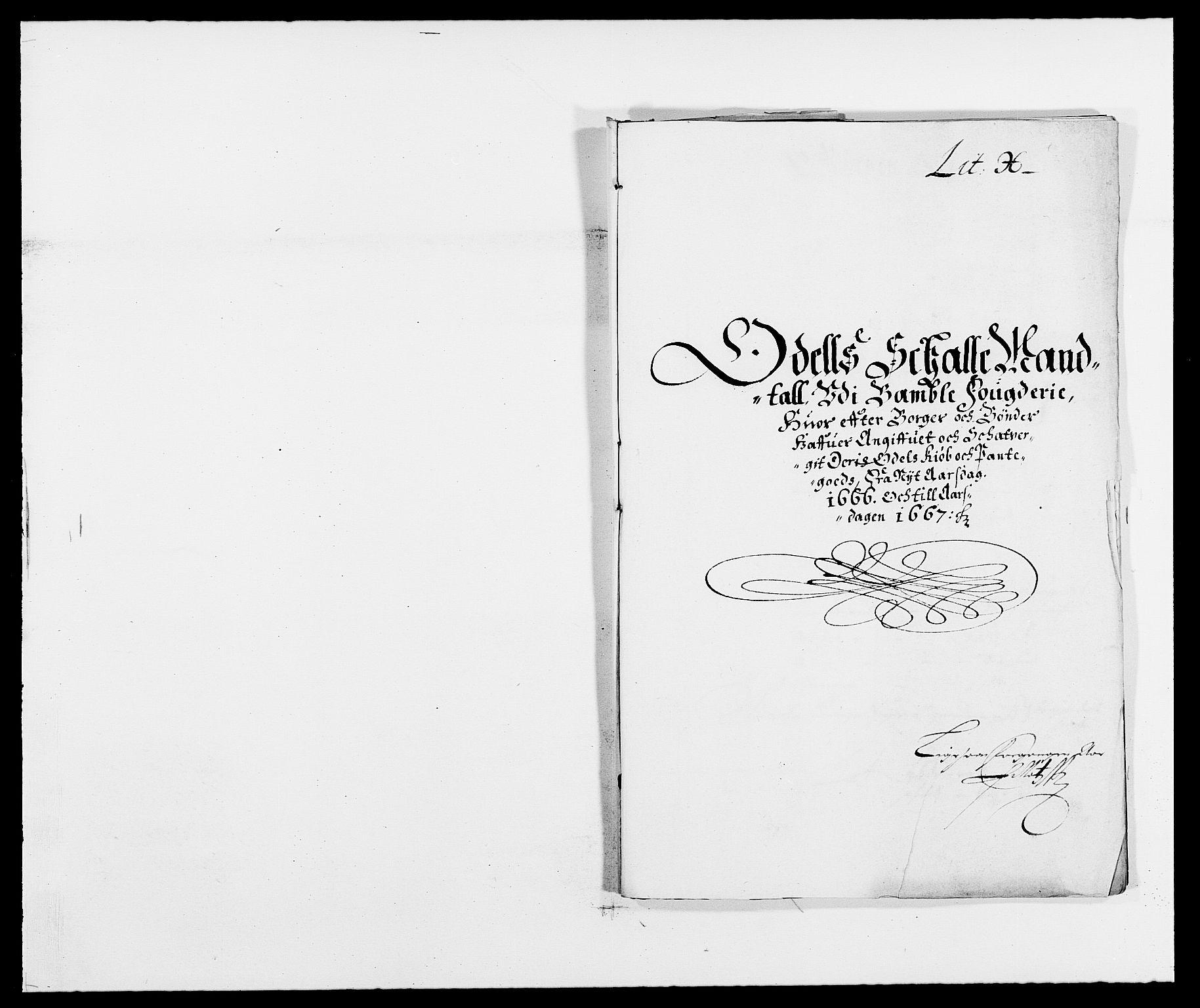 RA, Rentekammeret inntil 1814, Reviderte regnskaper, Fogderegnskap, R34/L2039: Fogderegnskap Bamble, 1662-1669, s. 76