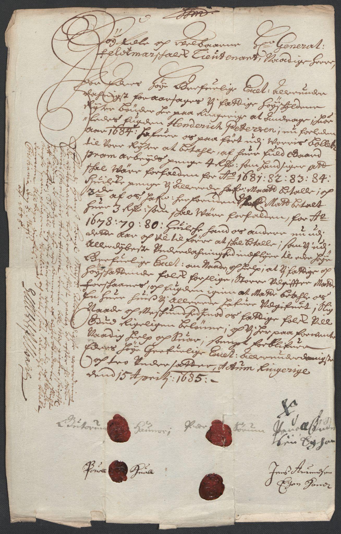 RA, Rentekammeret inntil 1814, Reviderte regnskaper, Fogderegnskap, R21/L1446: Fogderegnskap Ringerike og Hallingdal, 1683-1686, s. 410