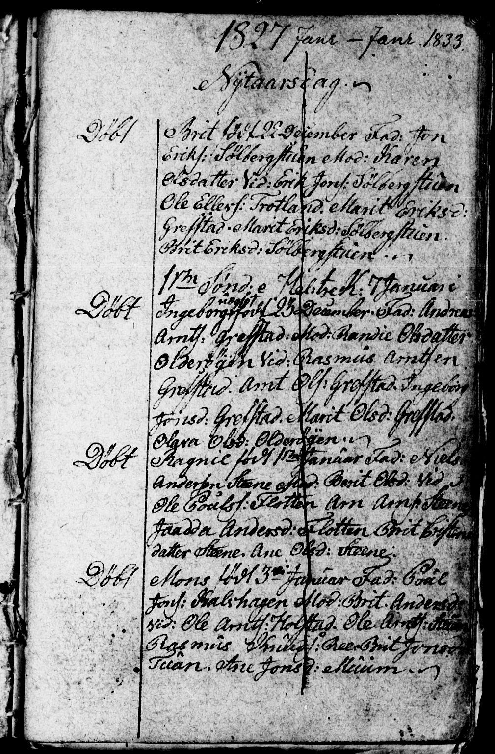 SAT, Arkivreferanse ukjent**, Kladd til kirkebok nr. 672I1F, 1827-1866