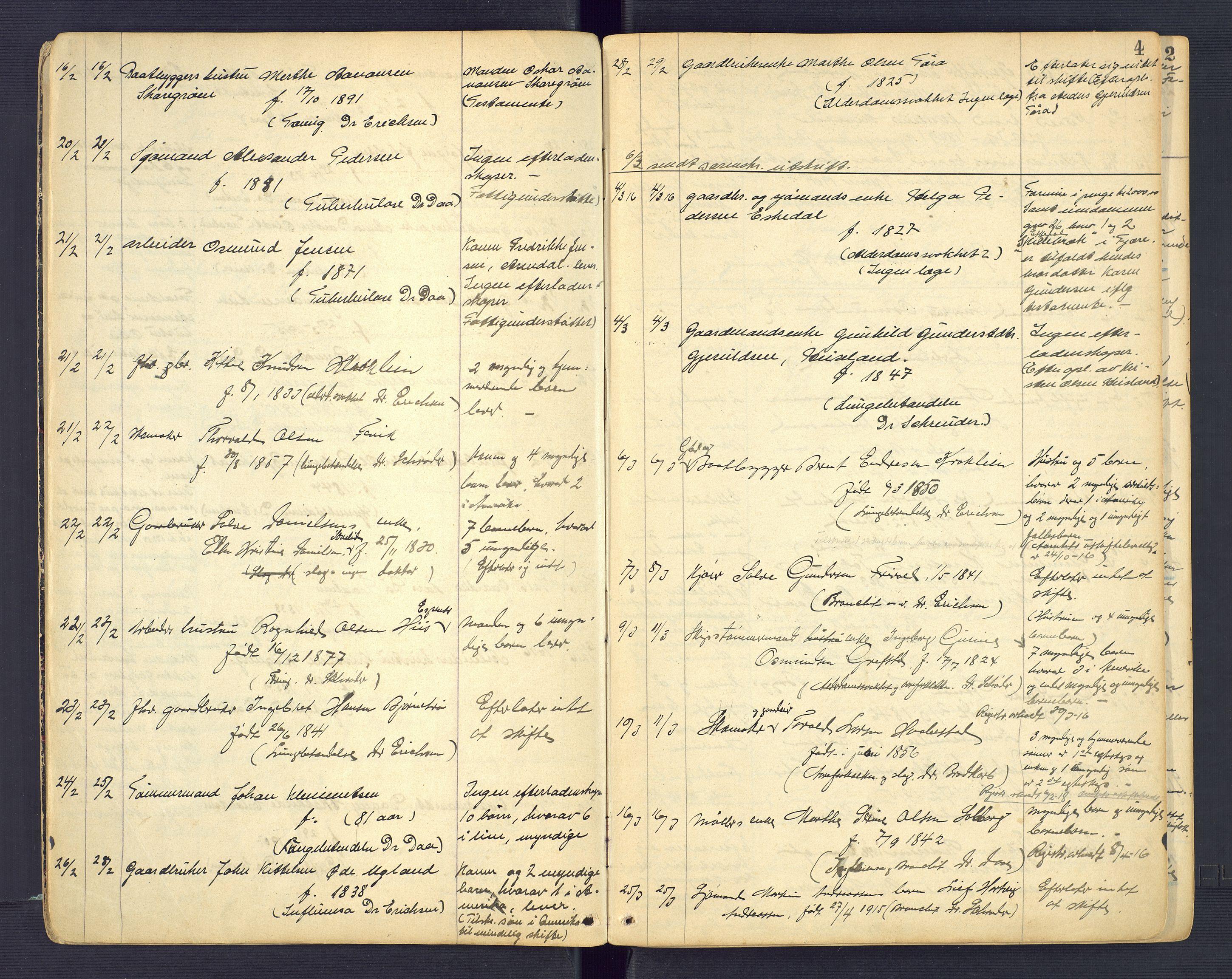 SAK, Landvik og Fjære lensmannskontor, F/Fe/L0002: Anmeldte dødsfall nr 31, 1915-1926