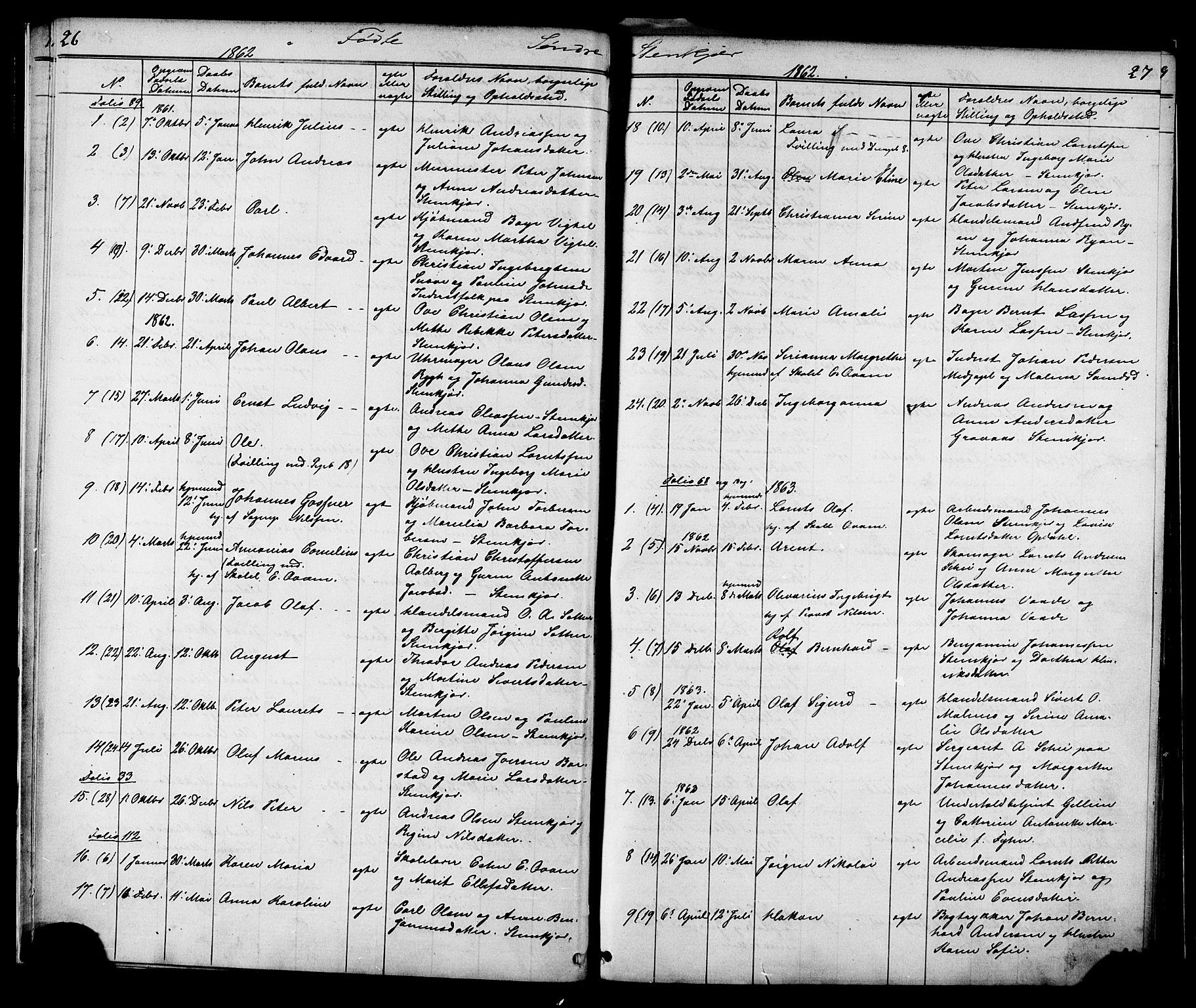 SAT, Ministerialprotokoller, klokkerbøker og fødselsregistre - Nord-Trøndelag, 739/L0367: Ministerialbok nr. 739A01 /1, 1838-1868, s. 26-27